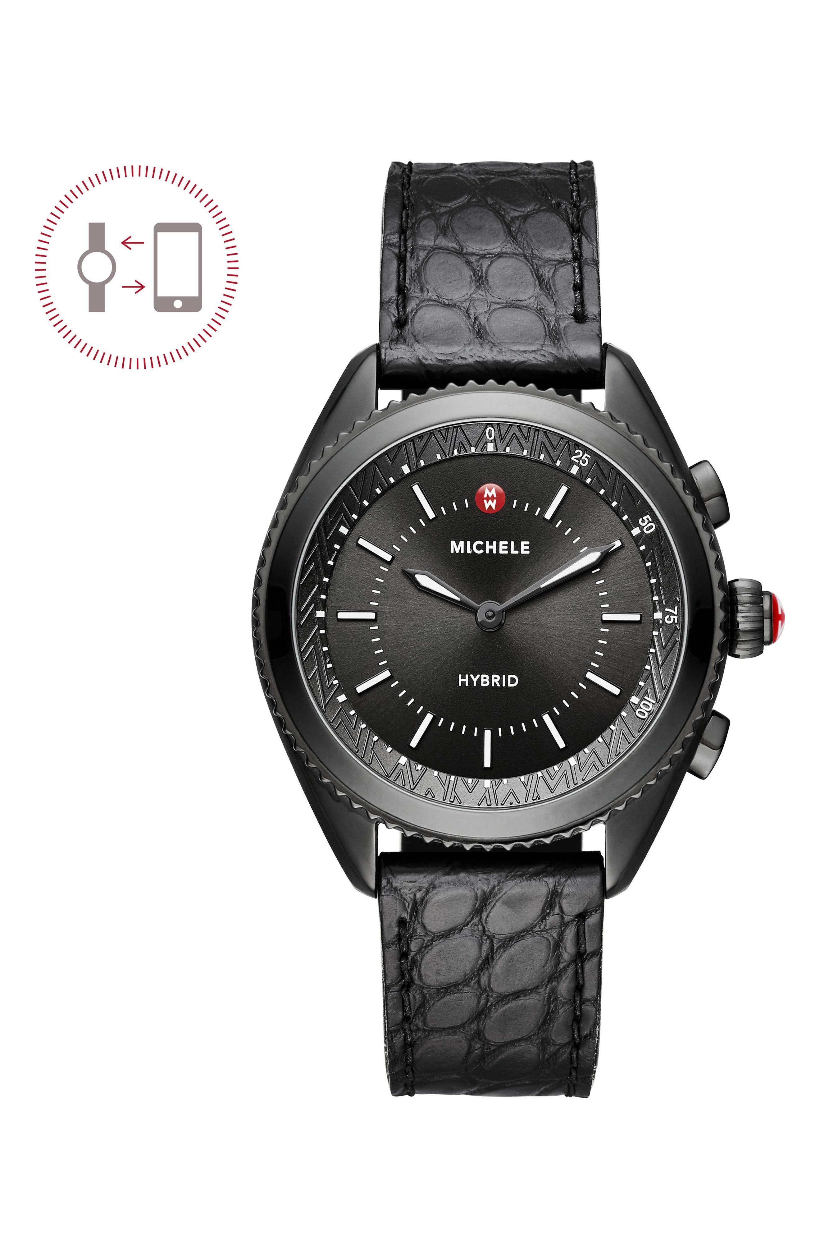 Hybrid Tracker Watch, 38mm,                         Main,                         color, Black