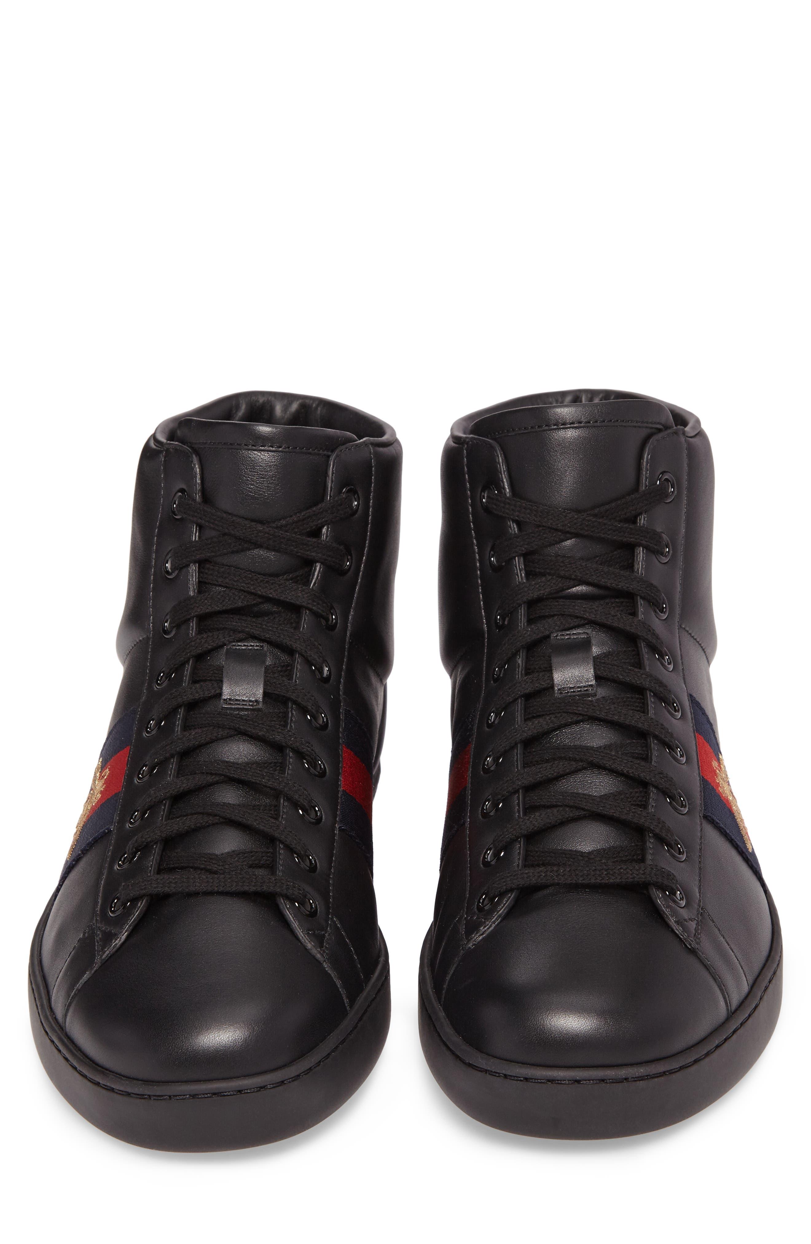 Ace High Top Sneaker,                             Alternate thumbnail 4, color,                             Black