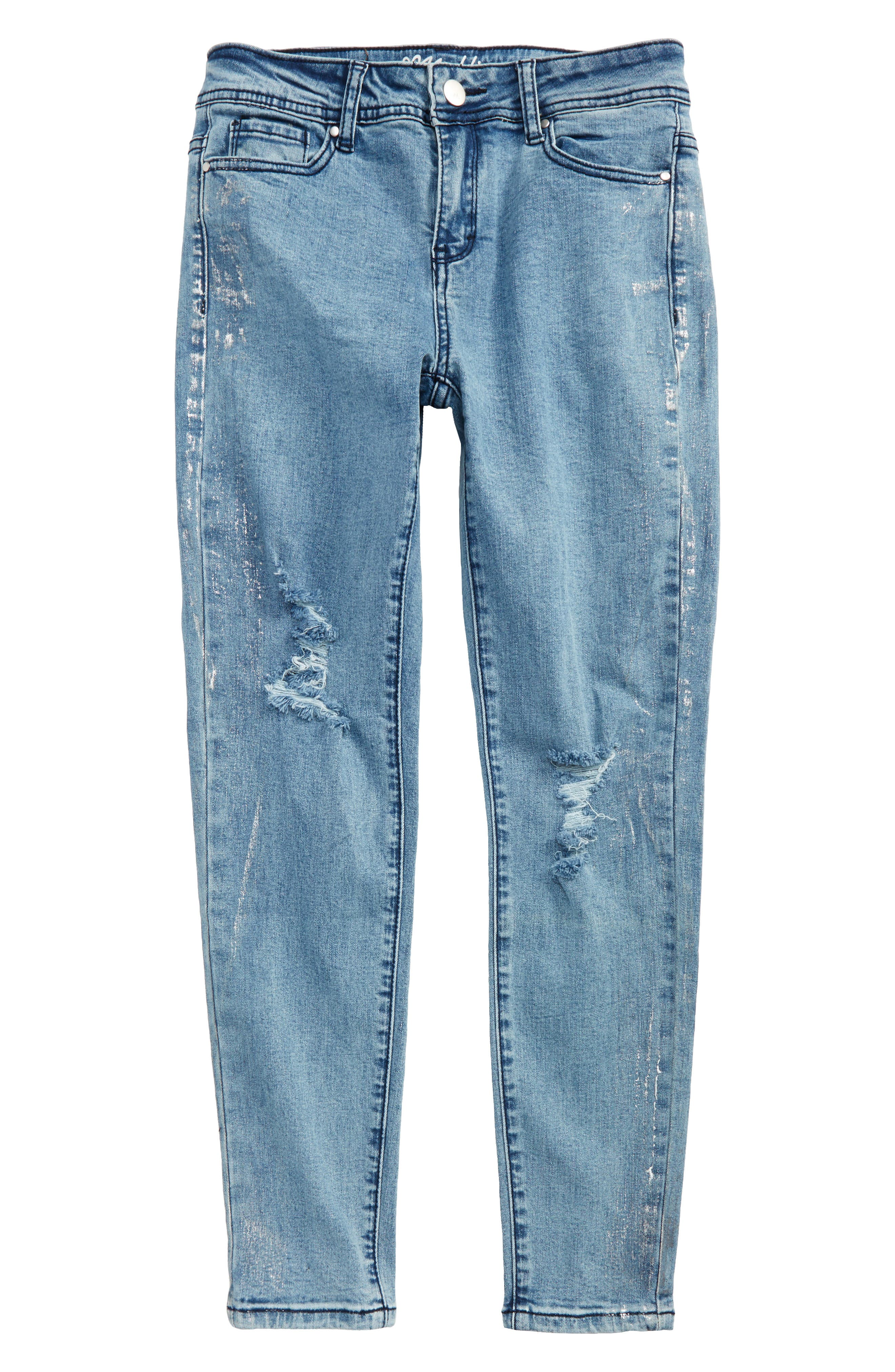 Maddie Distressed Skinny Jeans (Big Girls)