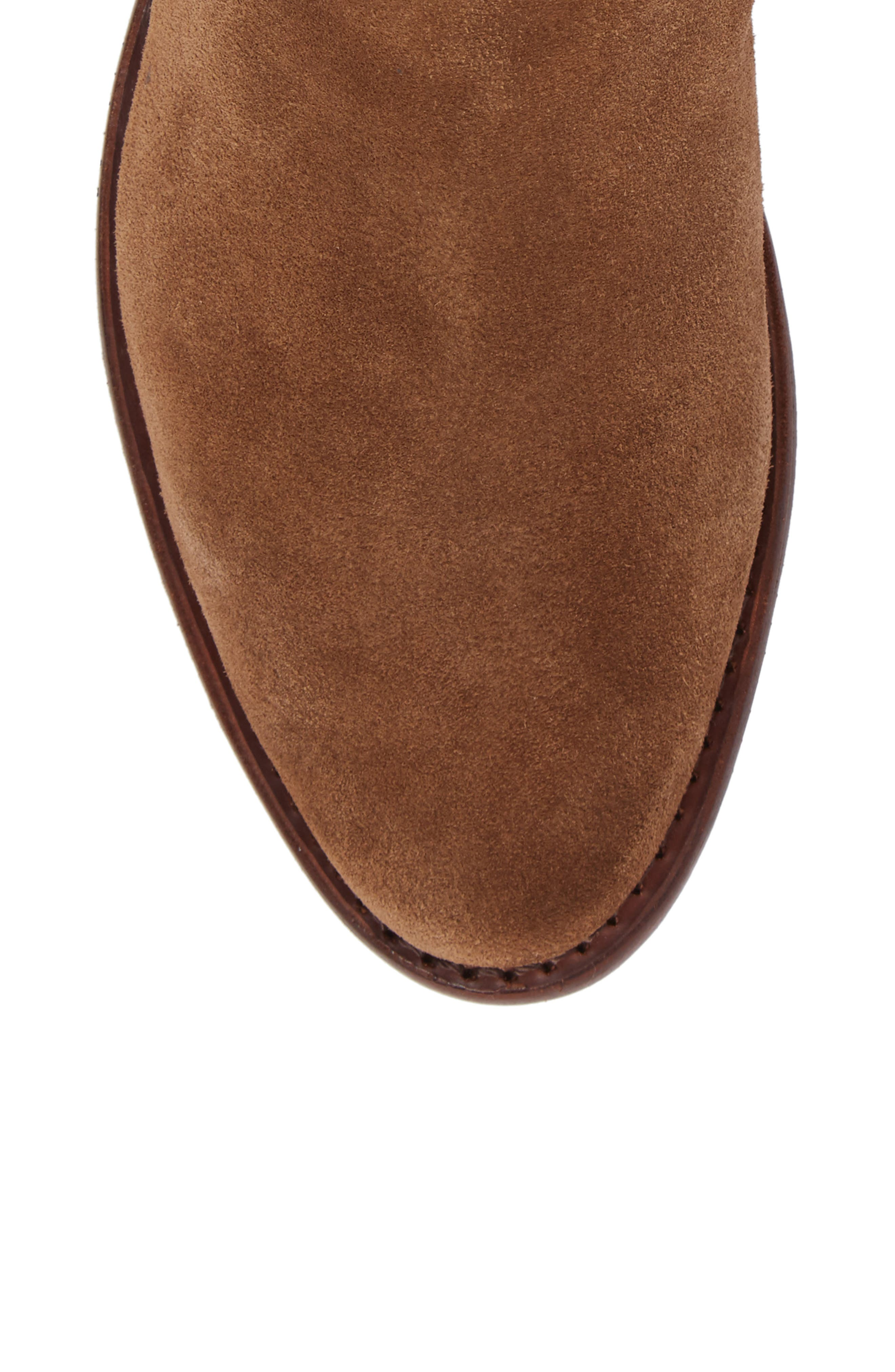 Gabrielle Chelsea Boot,                             Alternate thumbnail 5, color,                             Brown Suede