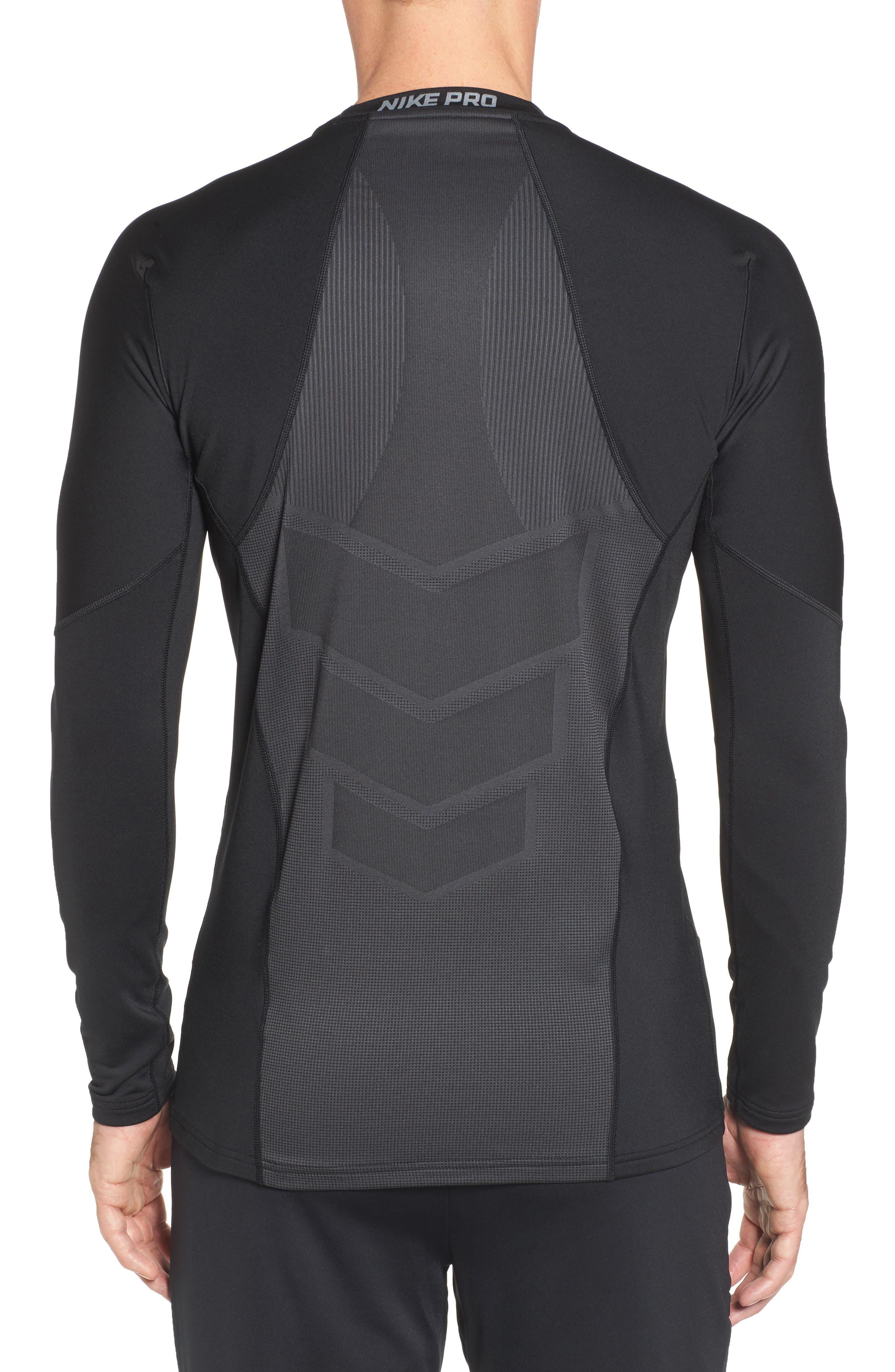 Pro Long Sleeve Training T-Shirt,                             Alternate thumbnail 2, color,                             Black/ Cool Grey/ Cool Grey