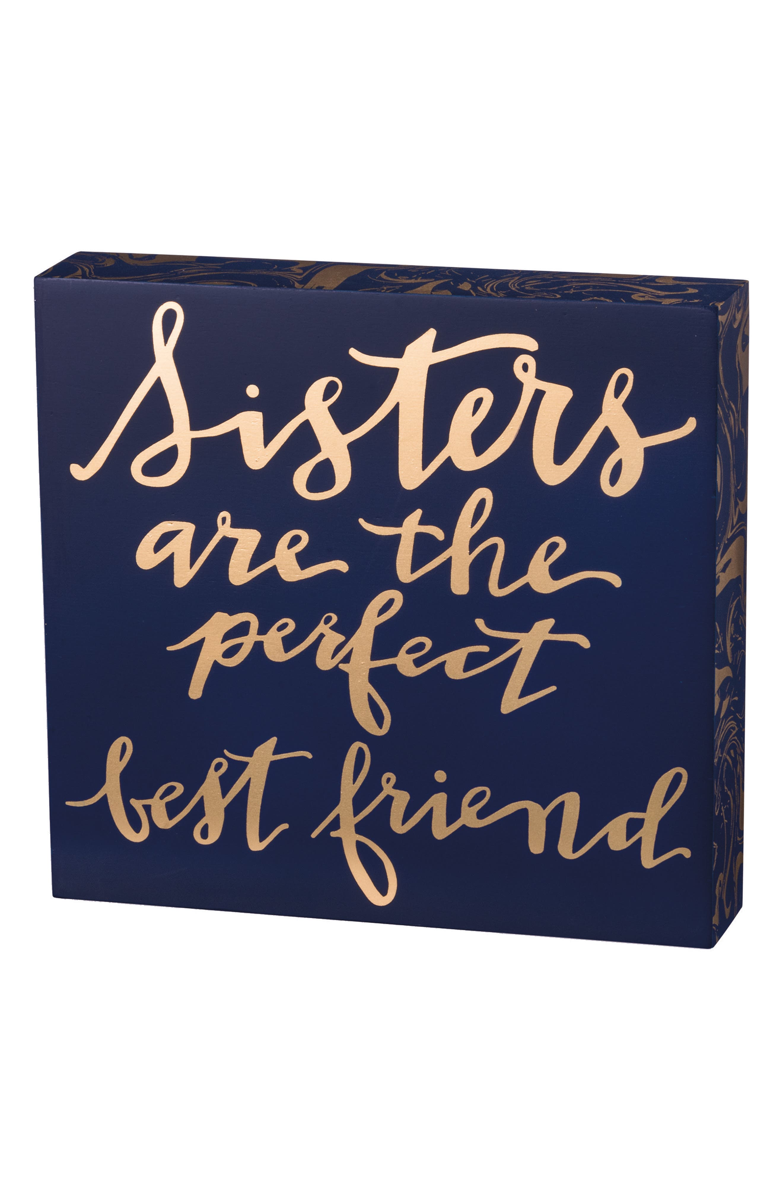 Sisters Are the Perfect Best Friend Box Sign,                             Main thumbnail 1, color,                             Blue