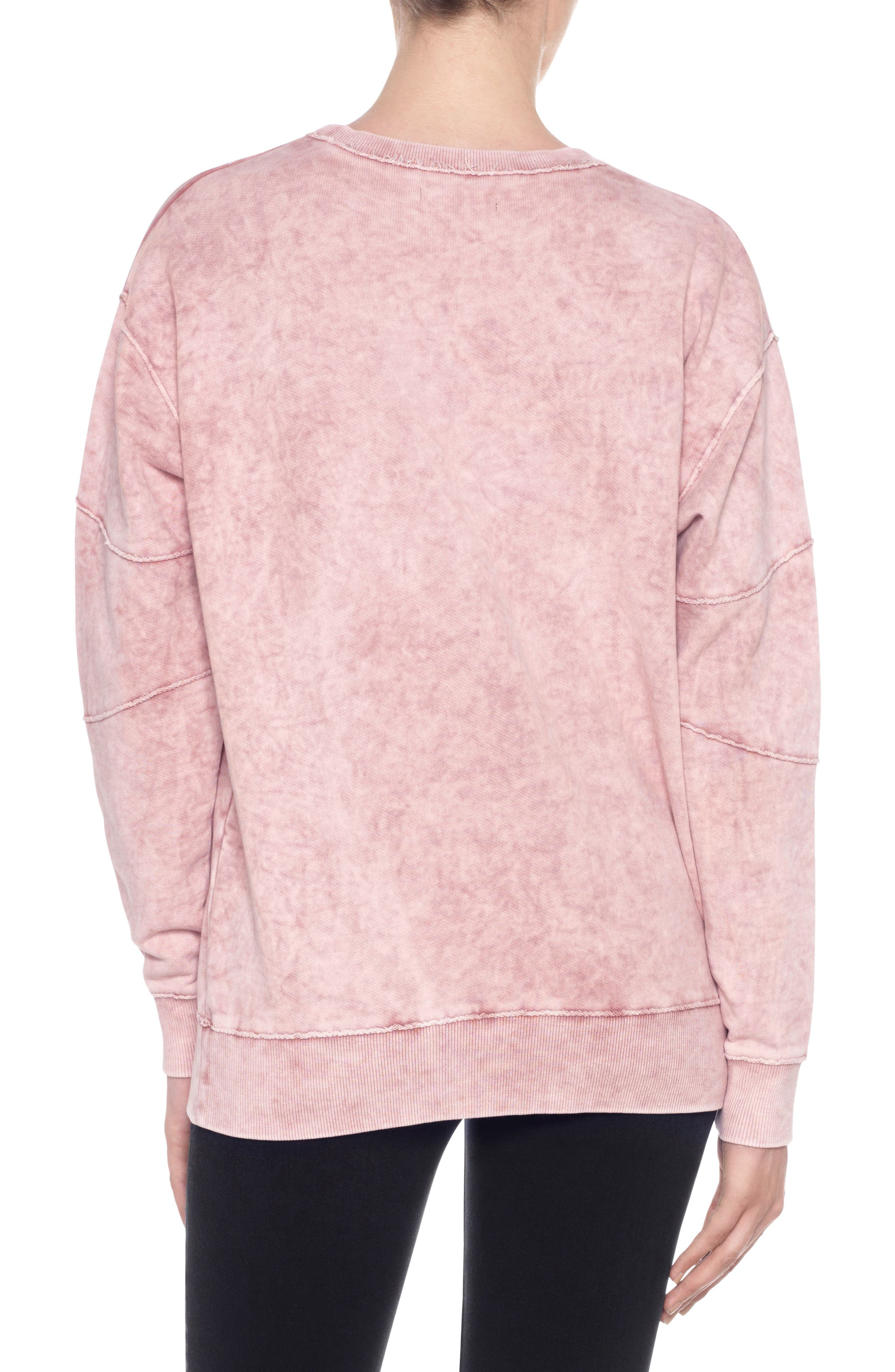 Kendall Sweatshirt,                             Alternate thumbnail 3, color,                             Wood Rose
