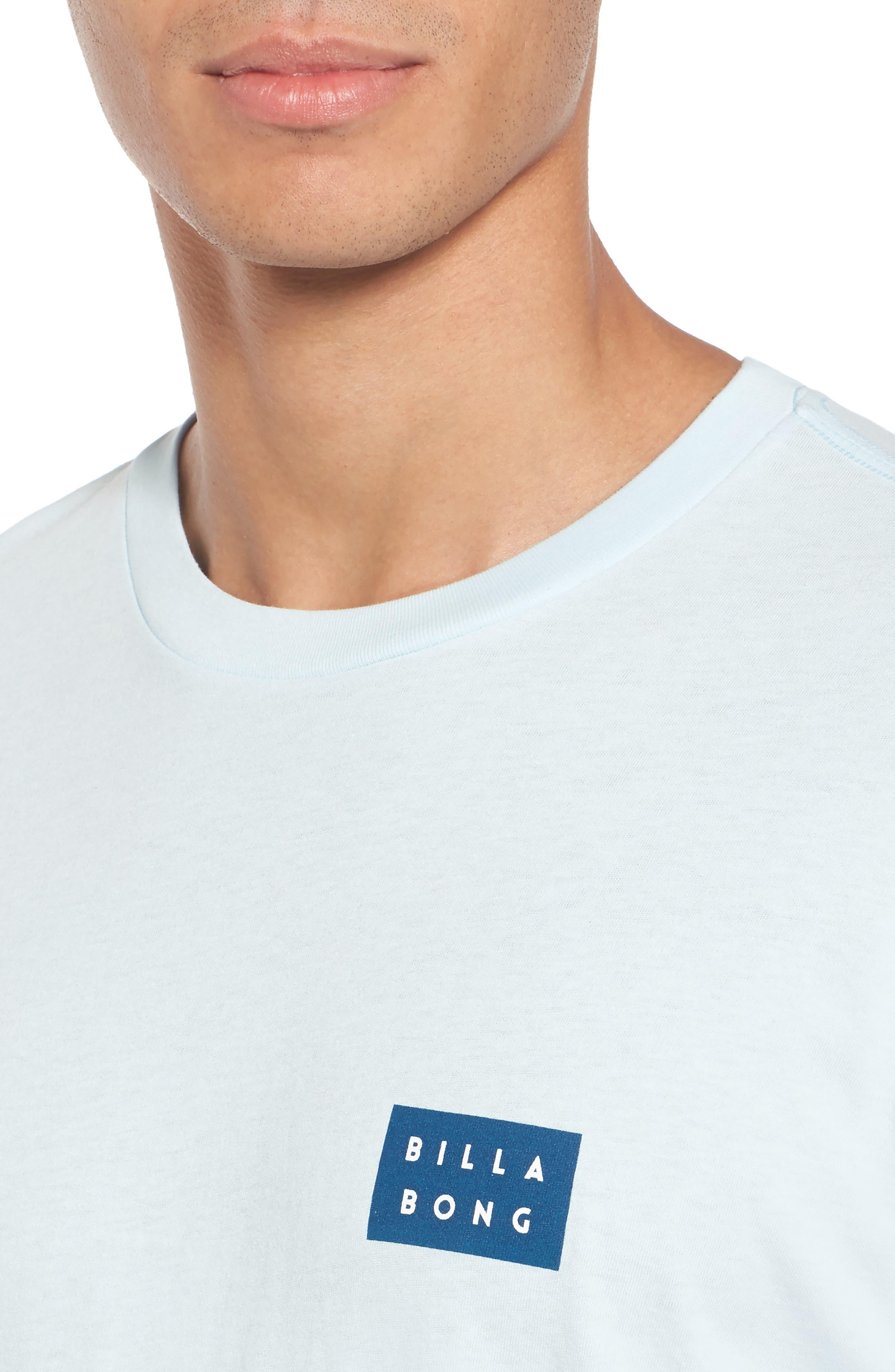 Die Cut Graphic T-Shirt,                             Alternate thumbnail 4, color,                             Coastal Blue