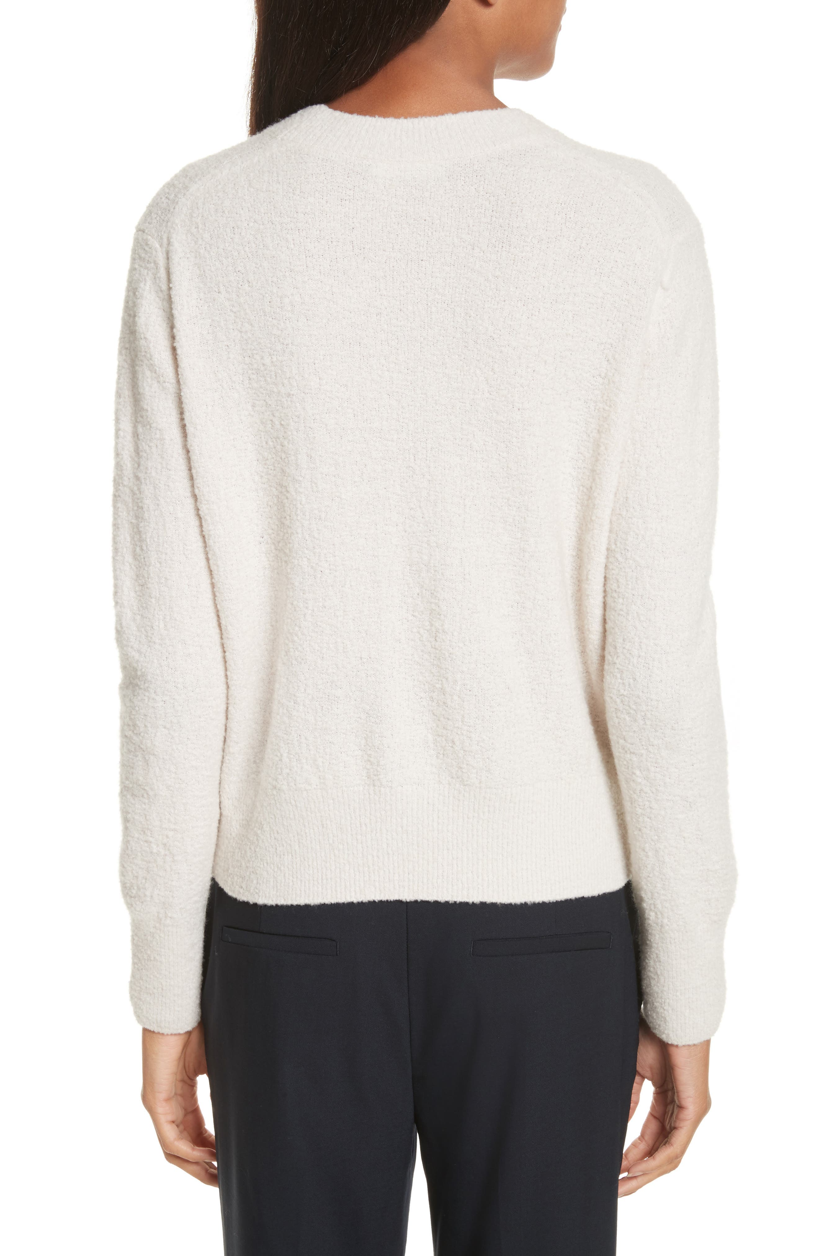 Crewneck Wool Blend Sweater,                             Alternate thumbnail 2, color,                             Off White