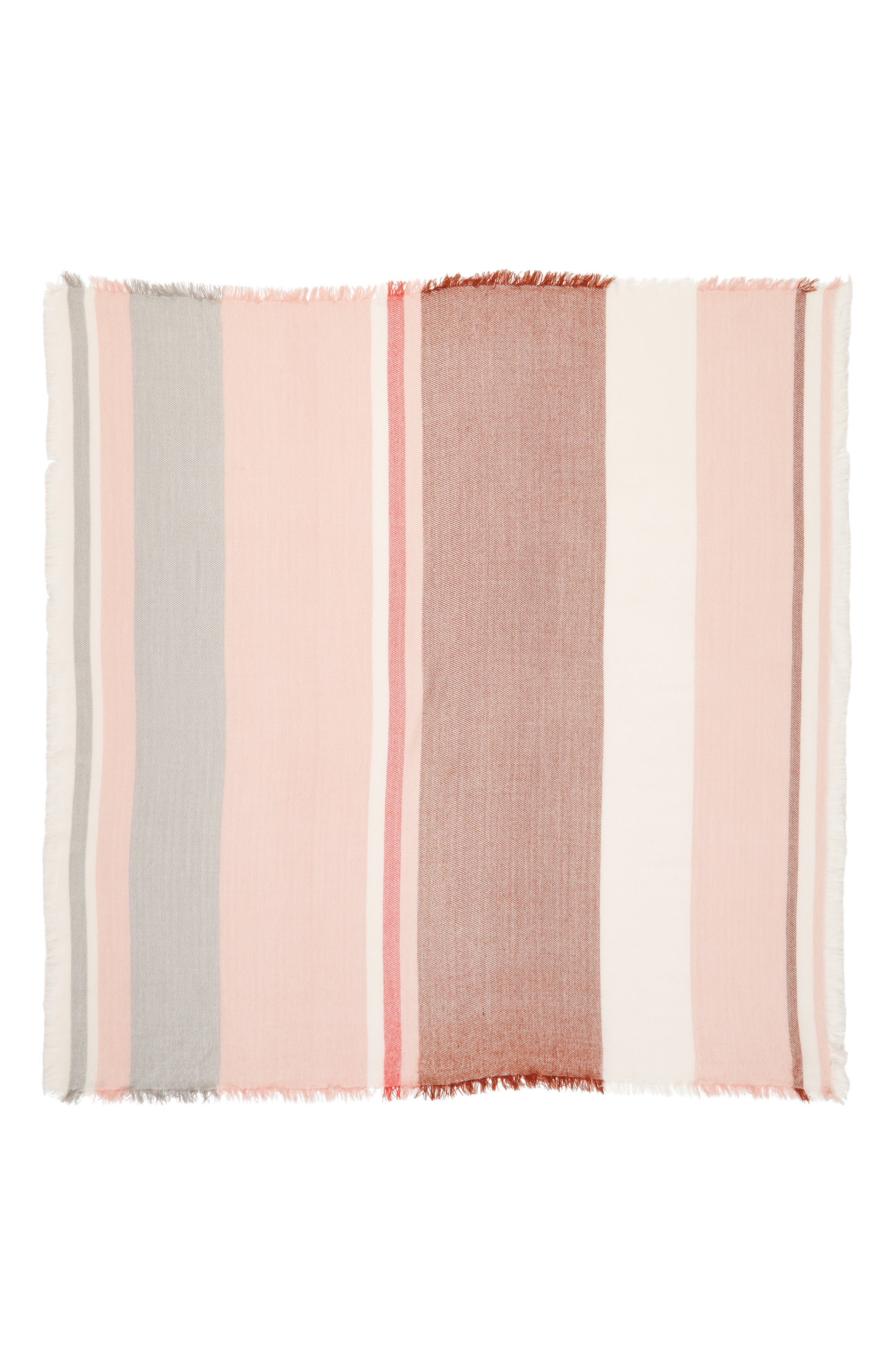 Colorblock Blanket Scarf,                             Alternate thumbnail 3, color,                             Cream/ Pink/ Bison