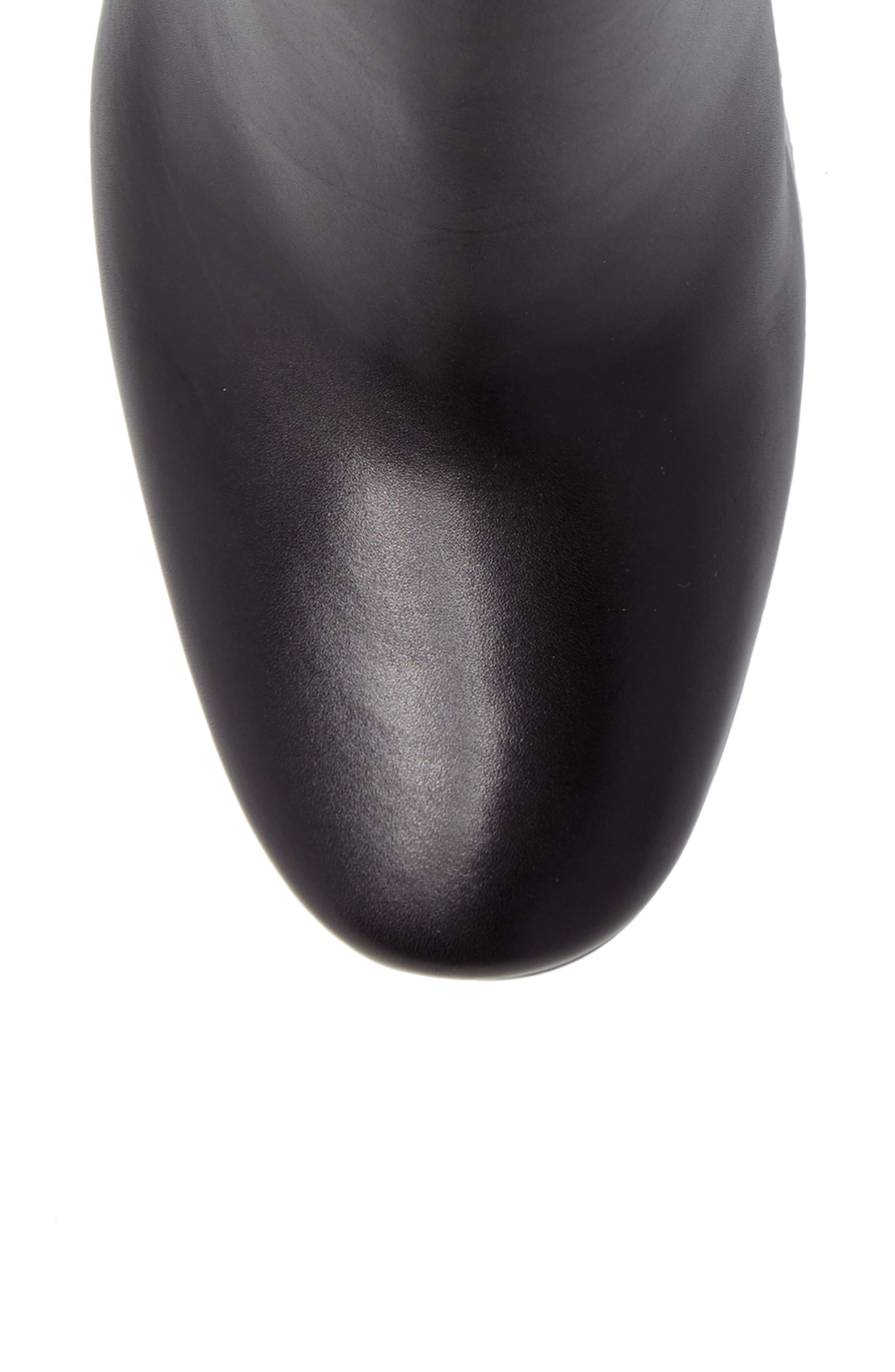 Francesca Block Heel Boot,                             Alternate thumbnail 5, color,                             Black Leather