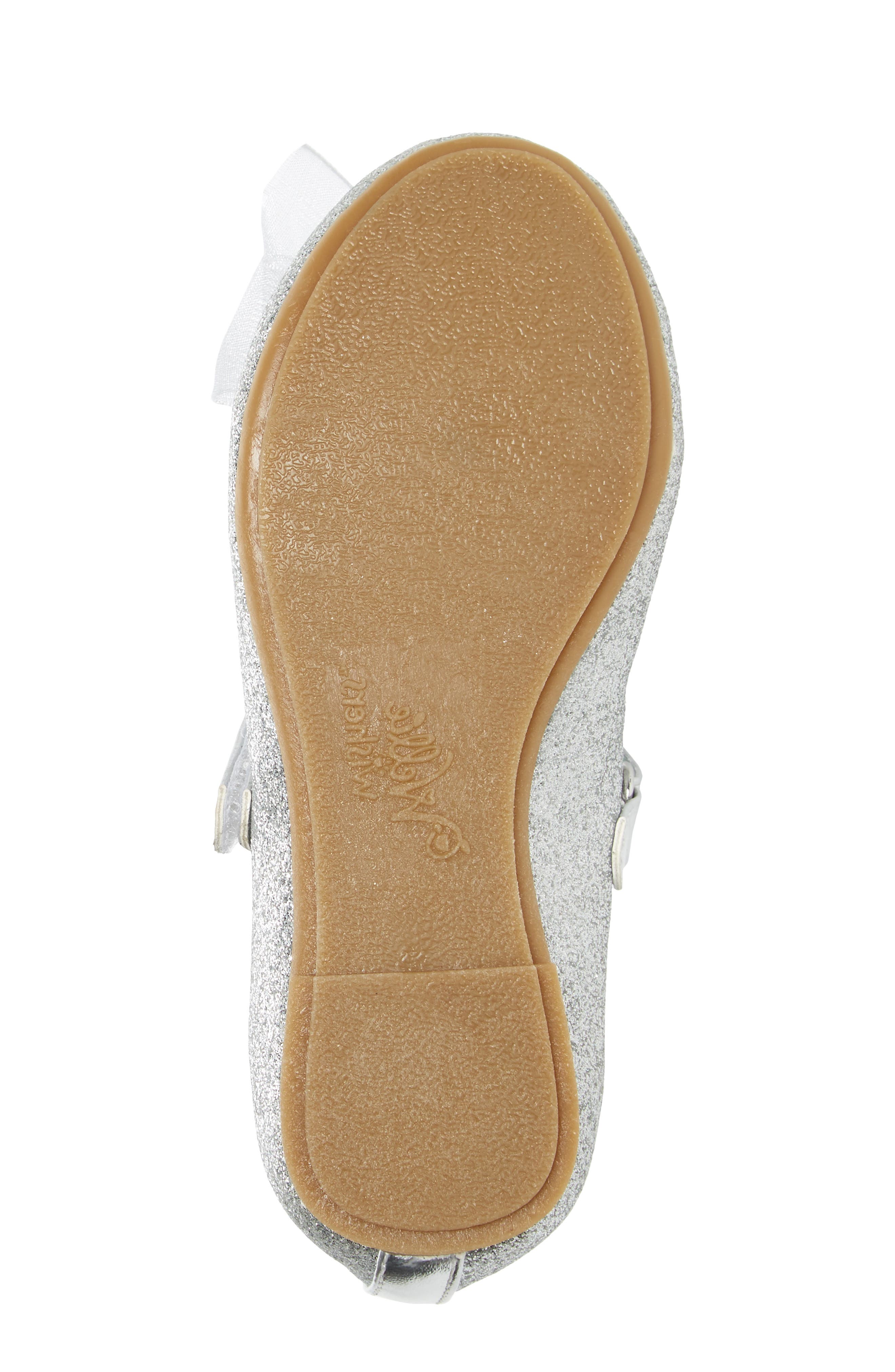 Camille Glitter Ballet Flat,                             Alternate thumbnail 6, color,                             Silver