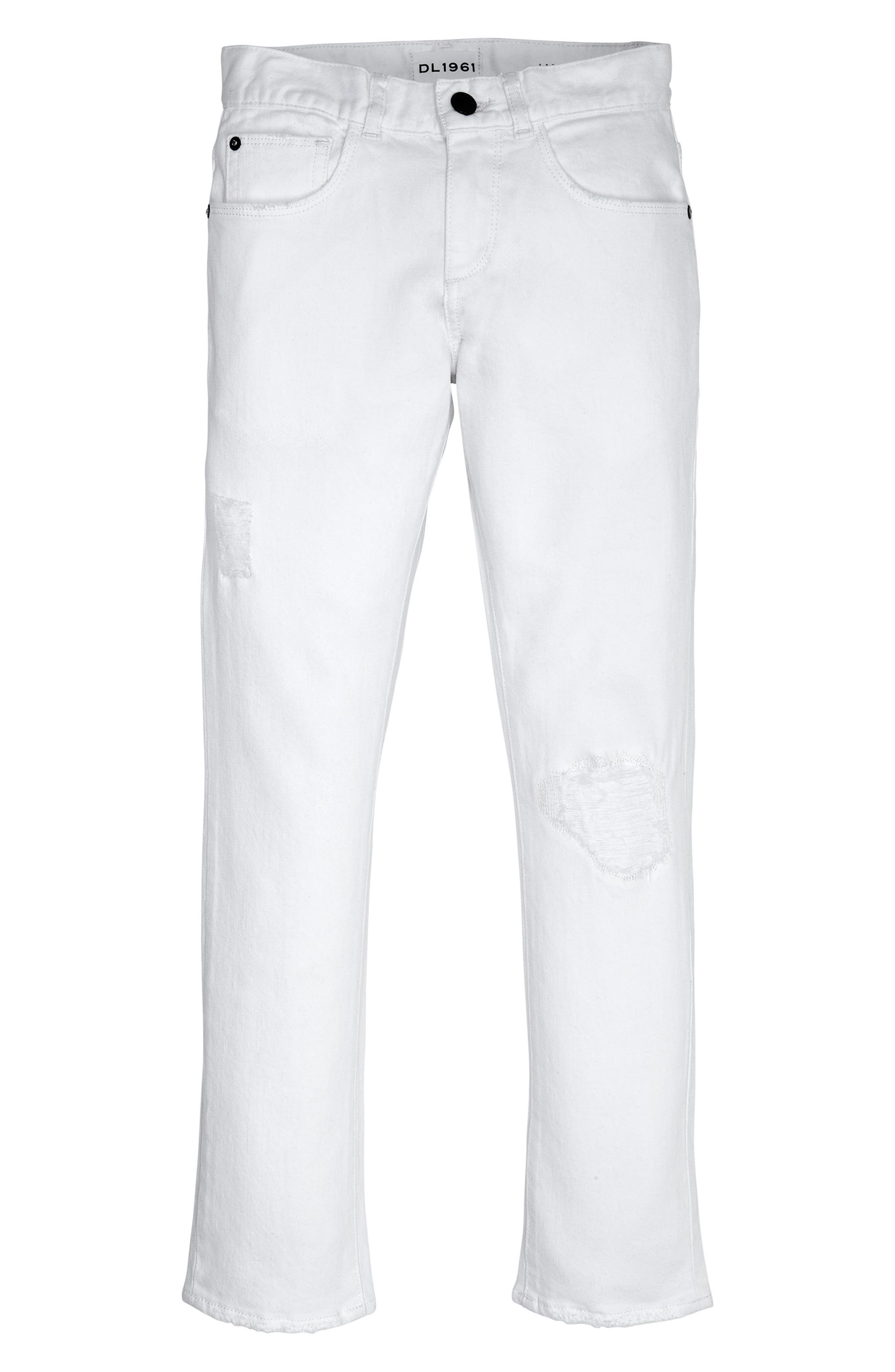 Brady Distressed Slim Fit Jeans,                             Main thumbnail 1, color,                             Bulletproof