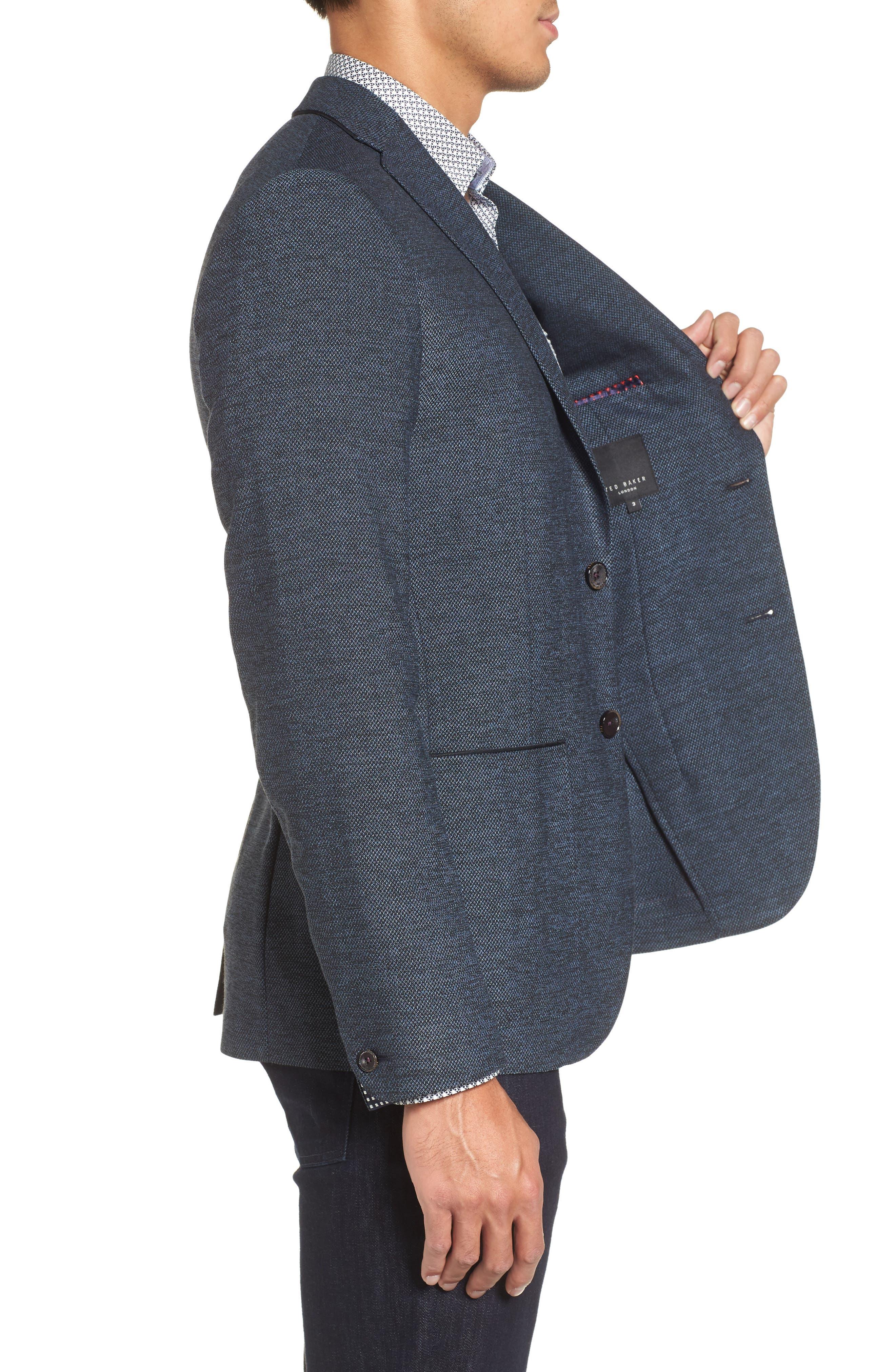 Port Slim Fit Jacket,                             Alternate thumbnail 3, color,                             Blue