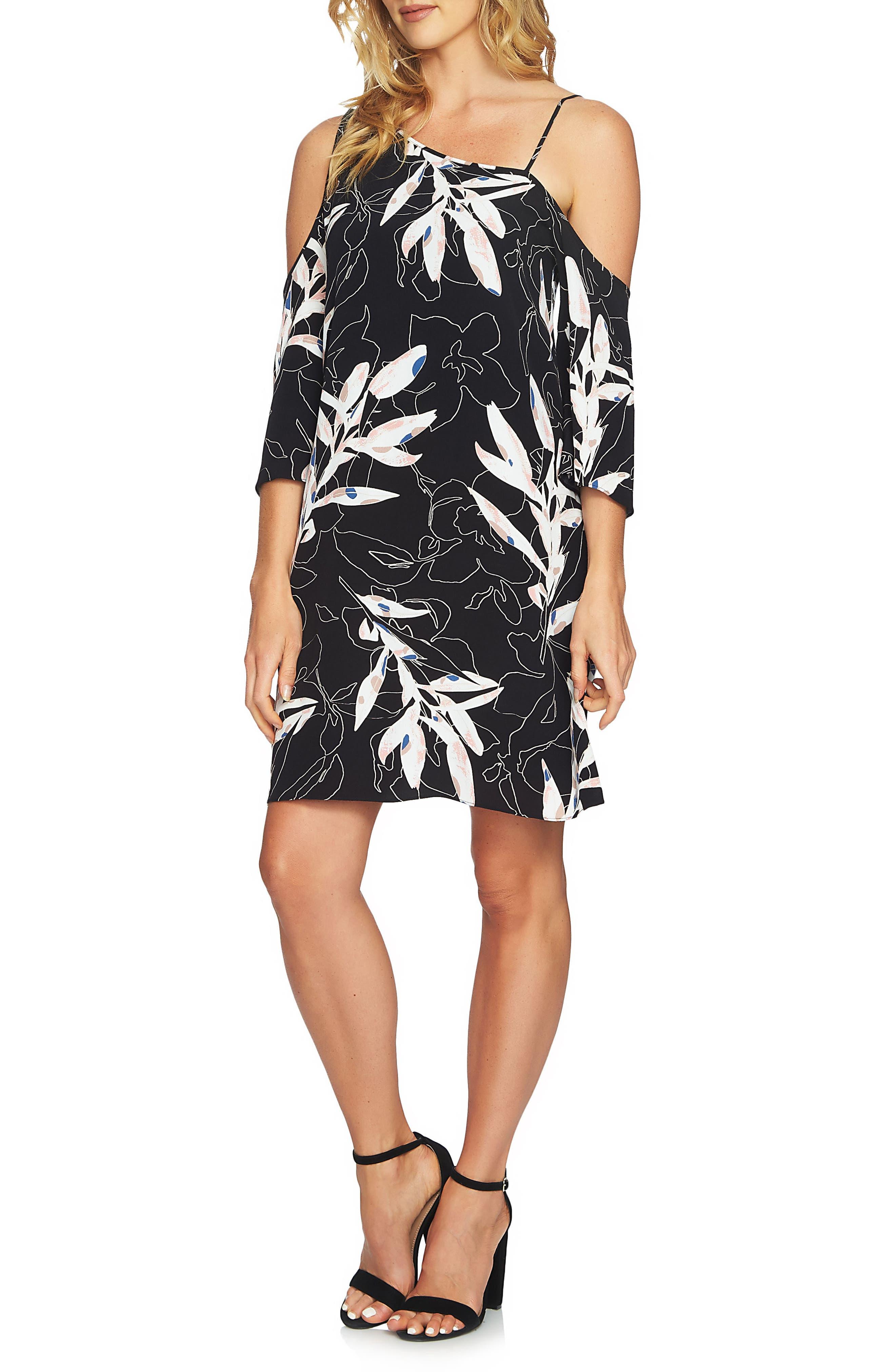 Alternate Image 1 Selected - 1.STATE Cold Shoulder Shift Dress