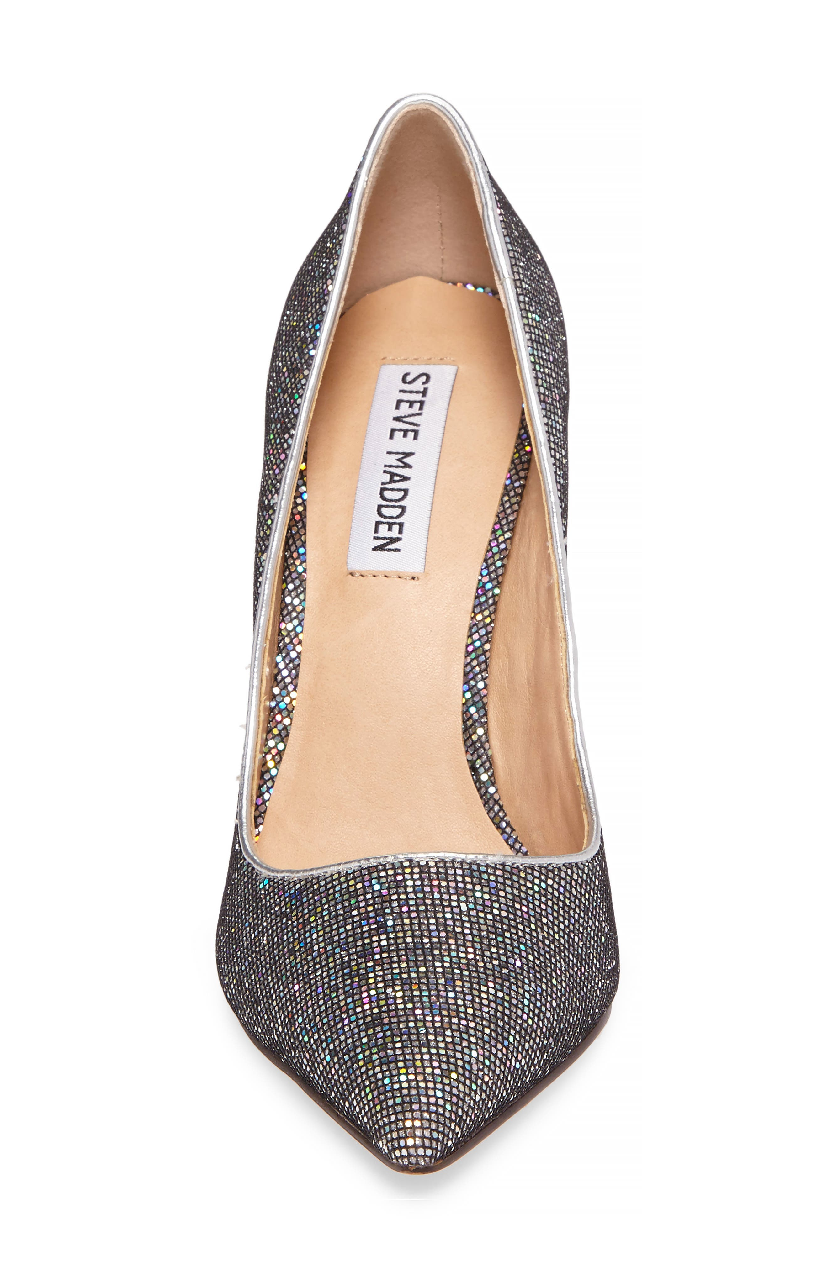 Daisie Pointy-Toe Pump,                             Alternate thumbnail 4, color,                             Black Multi Glitter