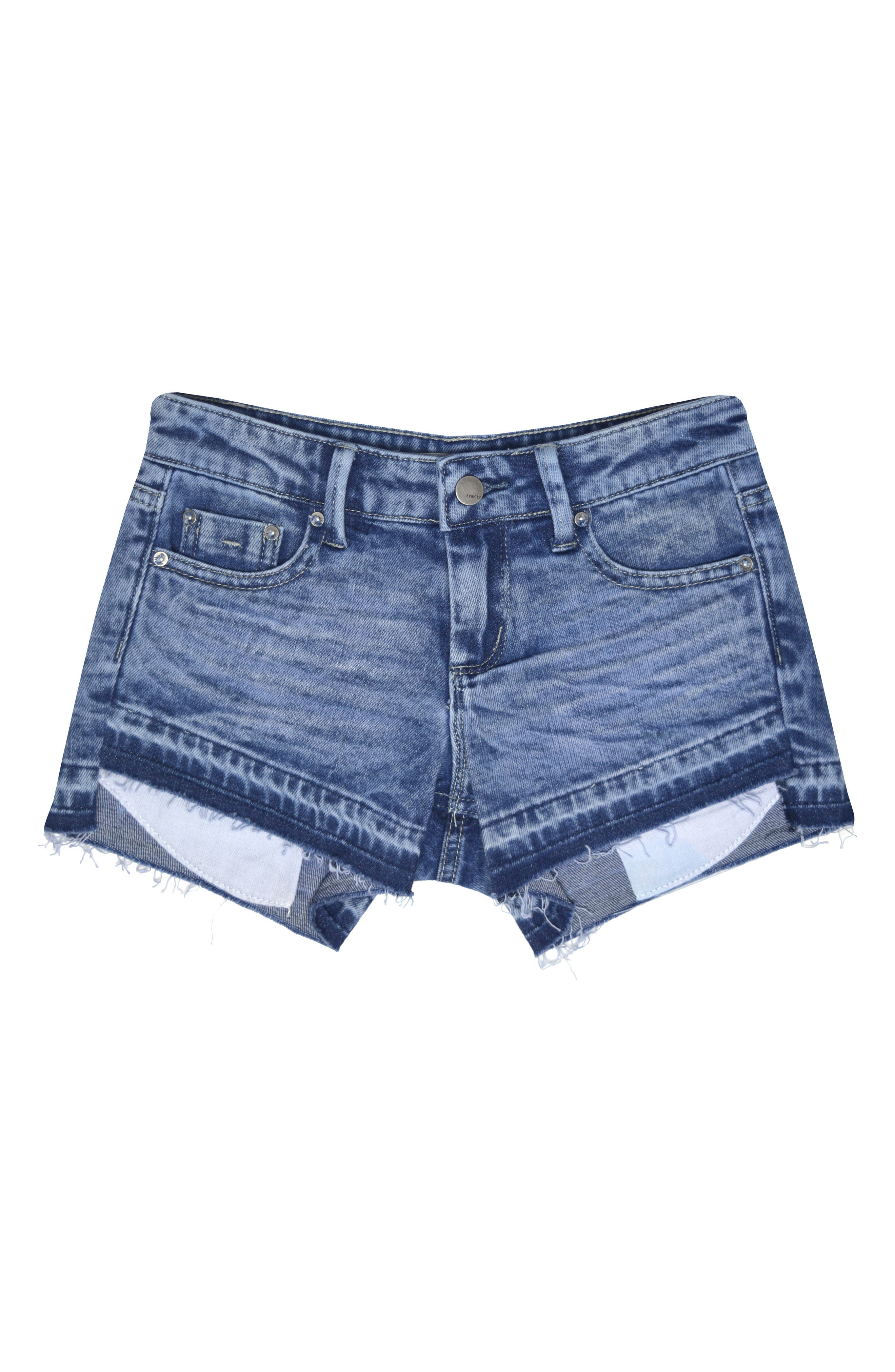 Tractr Step Hem Cutoff Denim Shorts (Big Girls)
