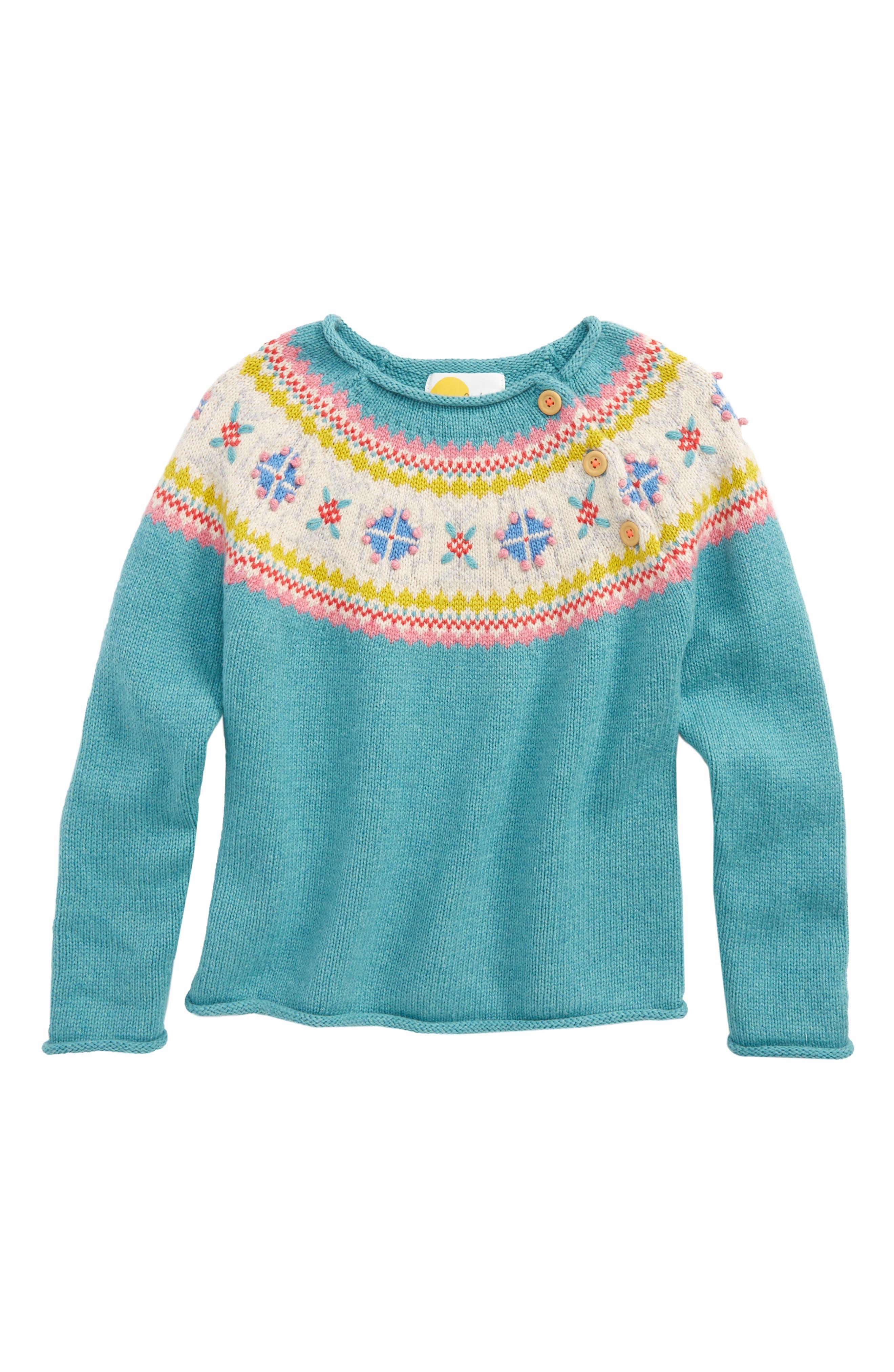 Mini Boden Chunky Knit Jumper Sweater (Toddler Girls, Little Girls & Big Girls)