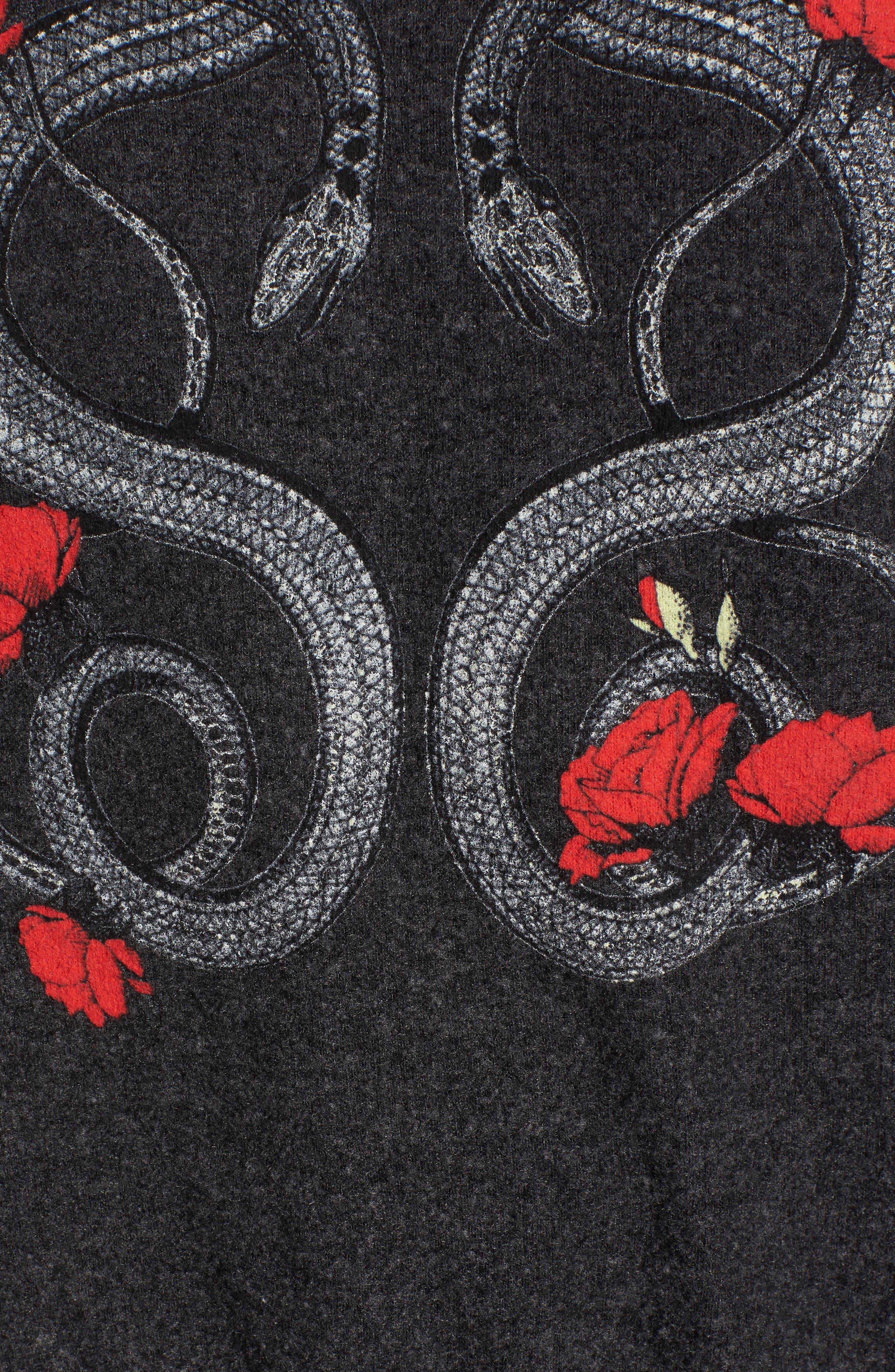 Alternate Image 5  - Dream Scene Red Snakes Sweatshirt