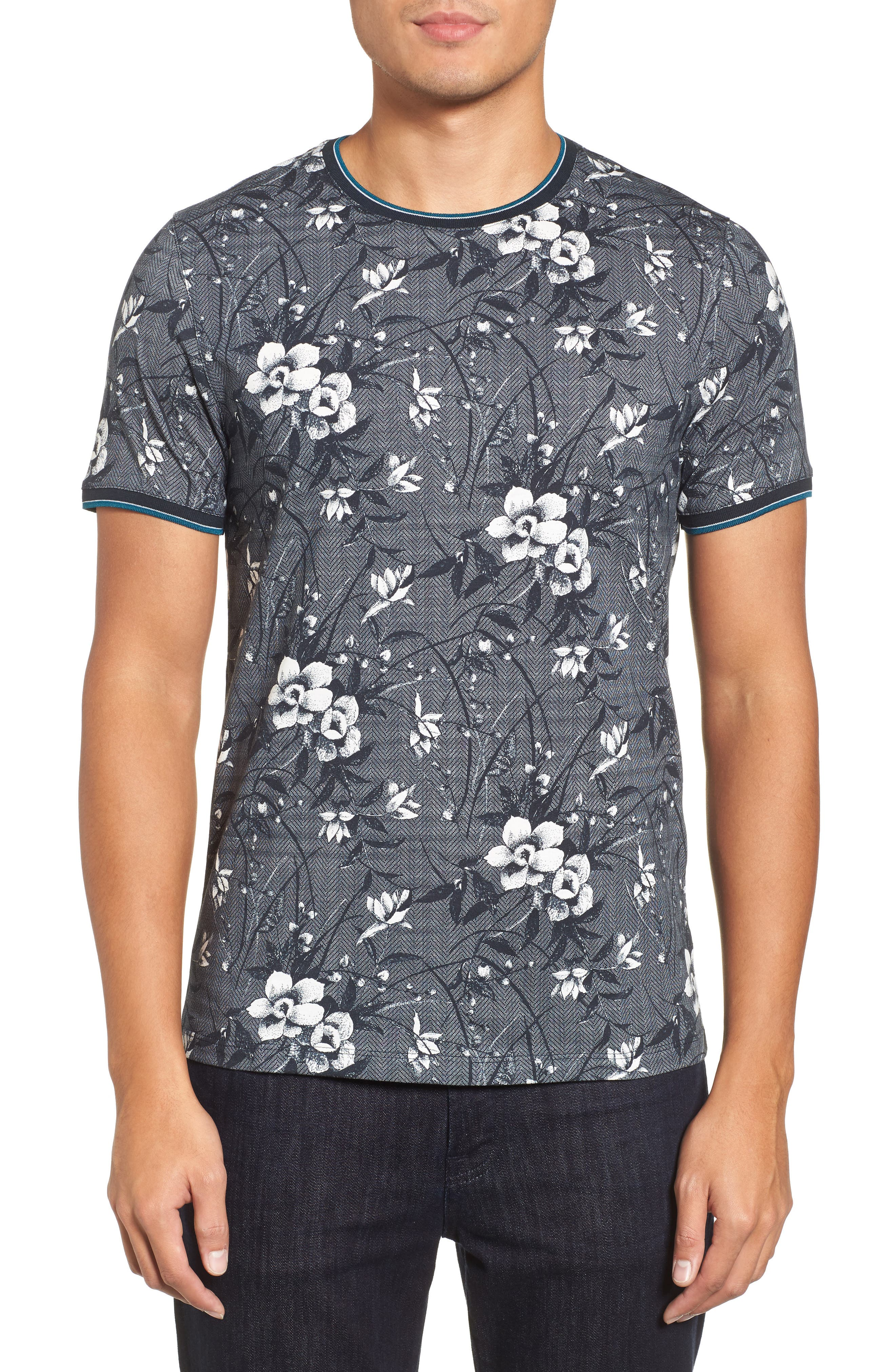 Ted Baker London Marrtin Floral Print T-Shirt