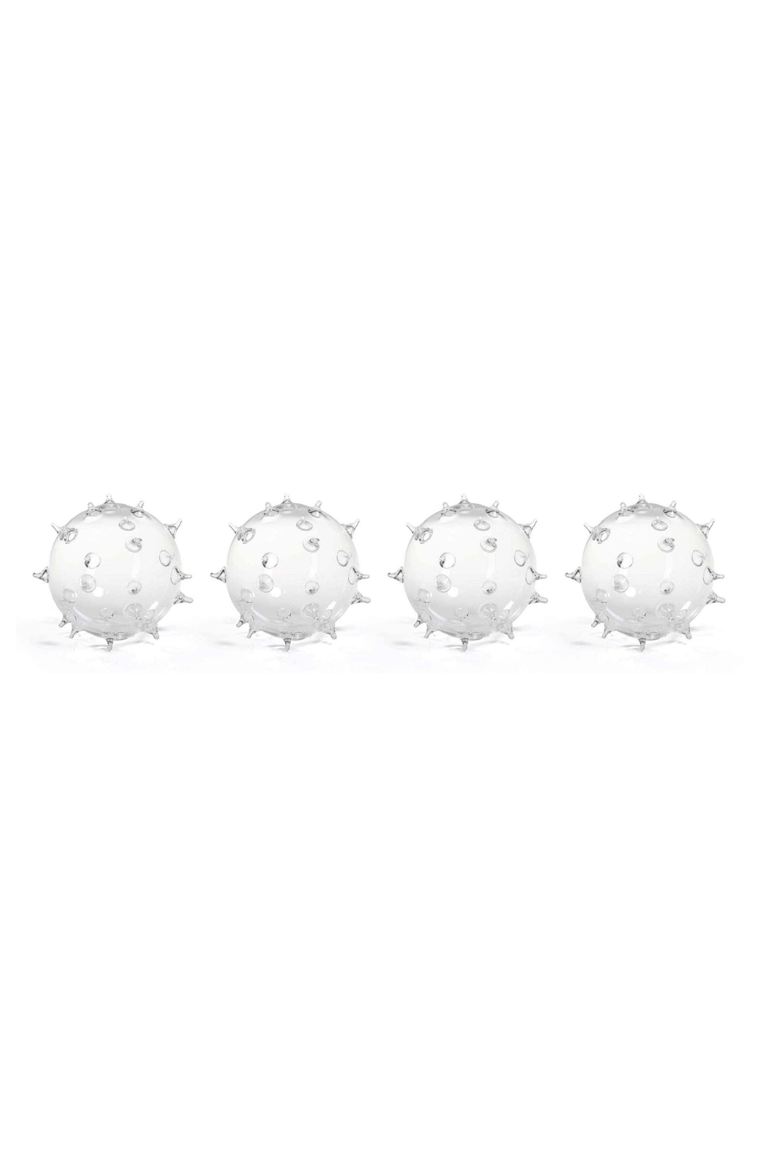 Suri Set of 4 Spiked Glass Vases,                         Main,                         color, Clear