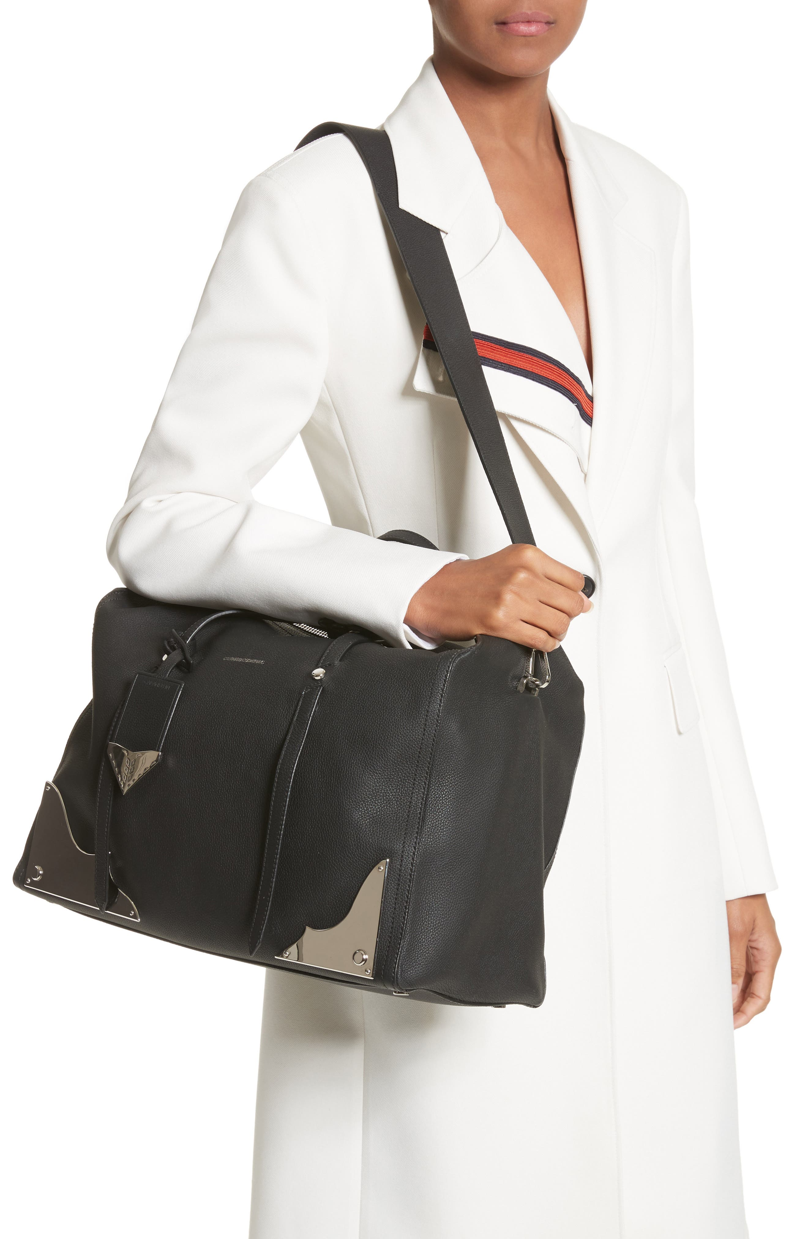 Alternate Image 2  - Calvin Klein 205W395NYC Medium Calfskin Satchel