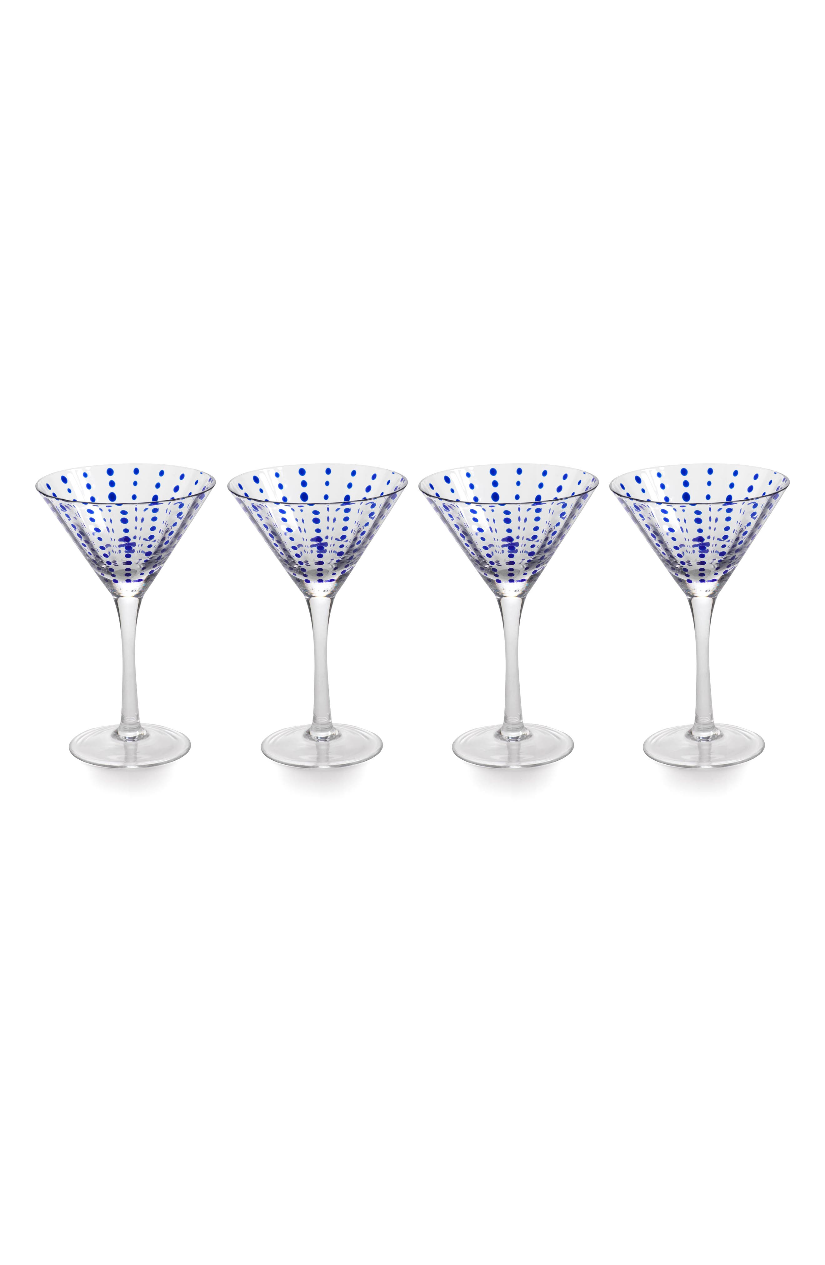Main Image - Zodax Mavi Set of 4 Martini Glasses