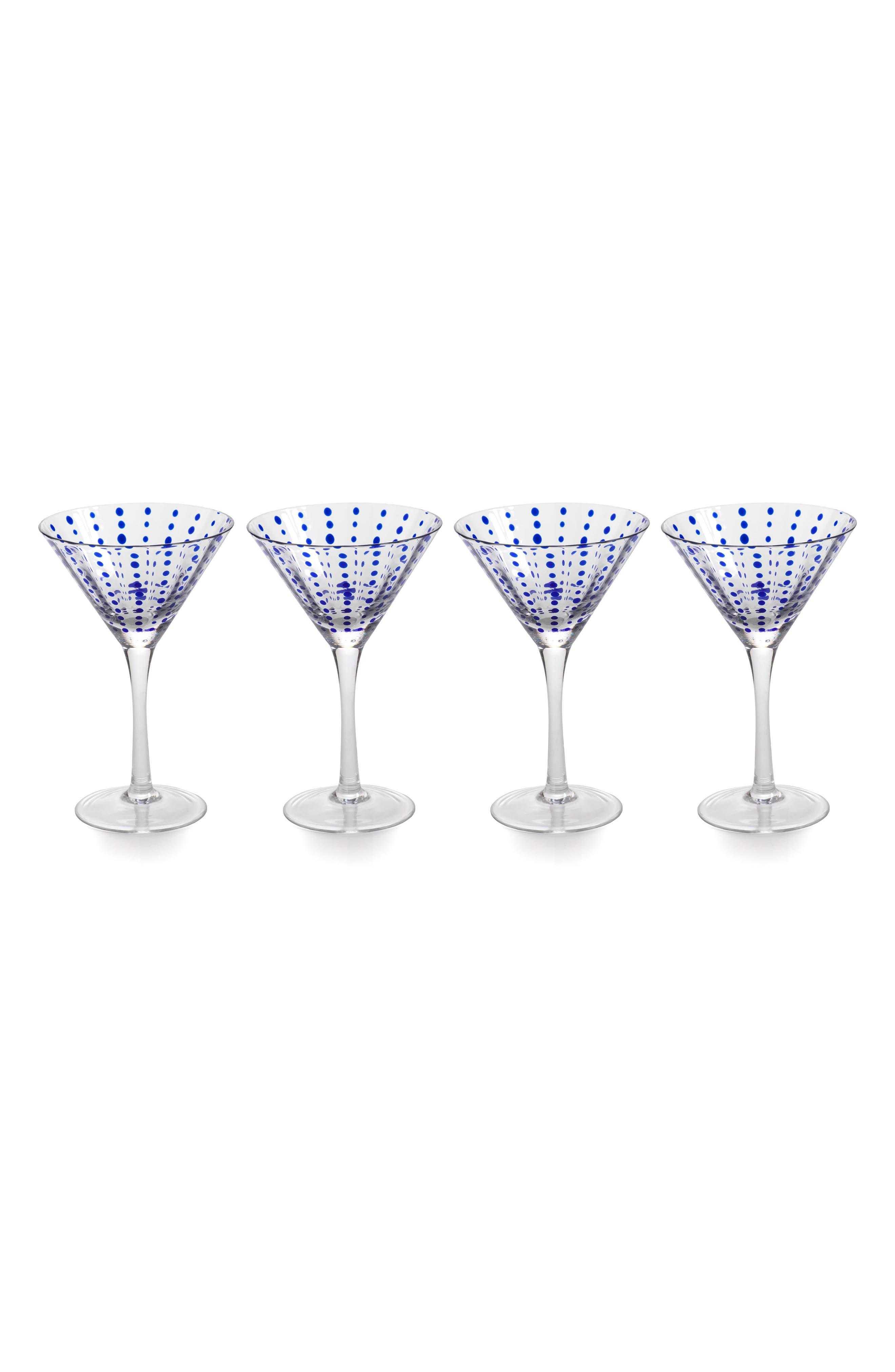 Mavi Set of 4 Martini Glasses,                         Main,                         color, Blue