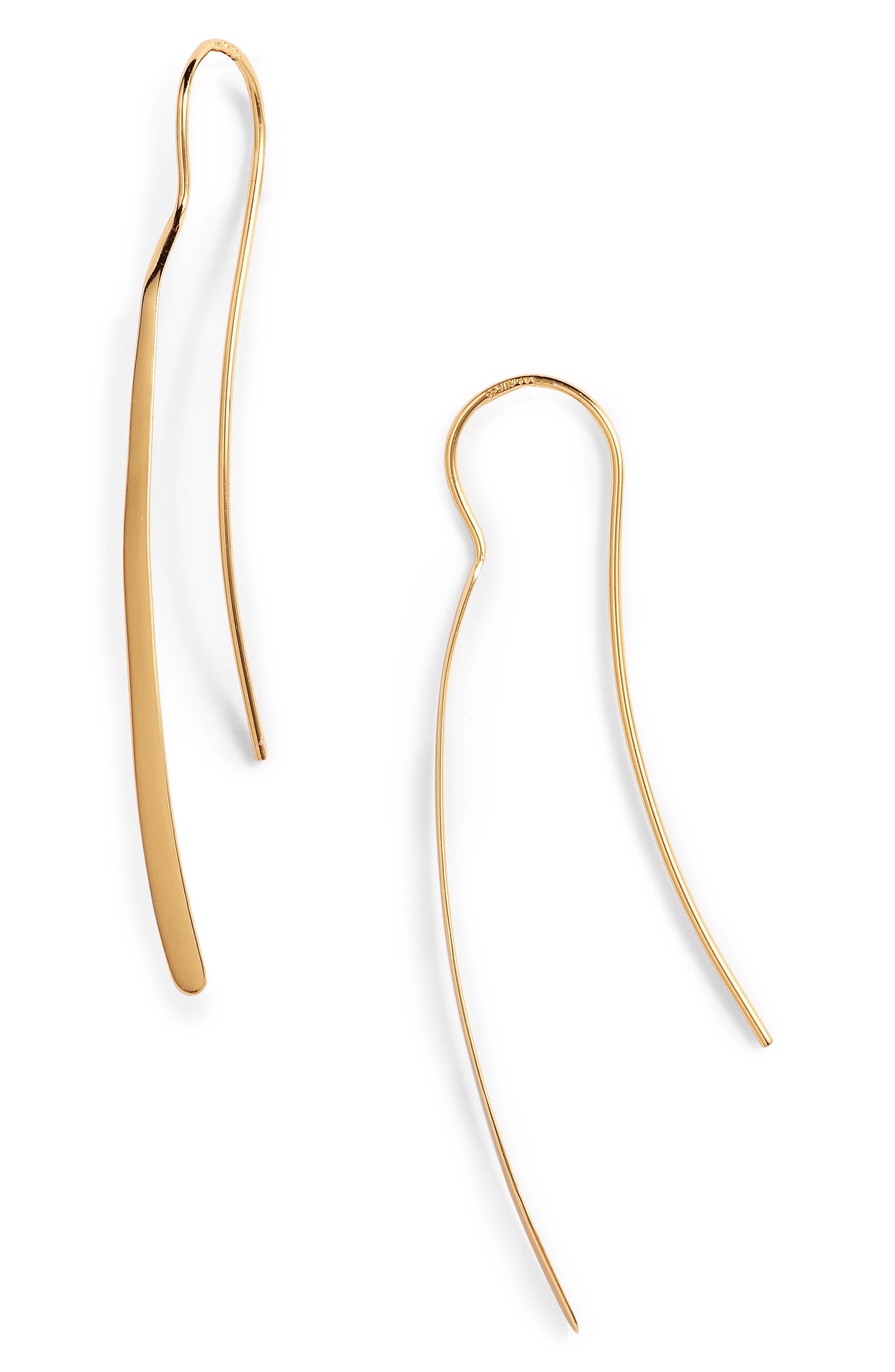 Argento Vivo Threader Earrings