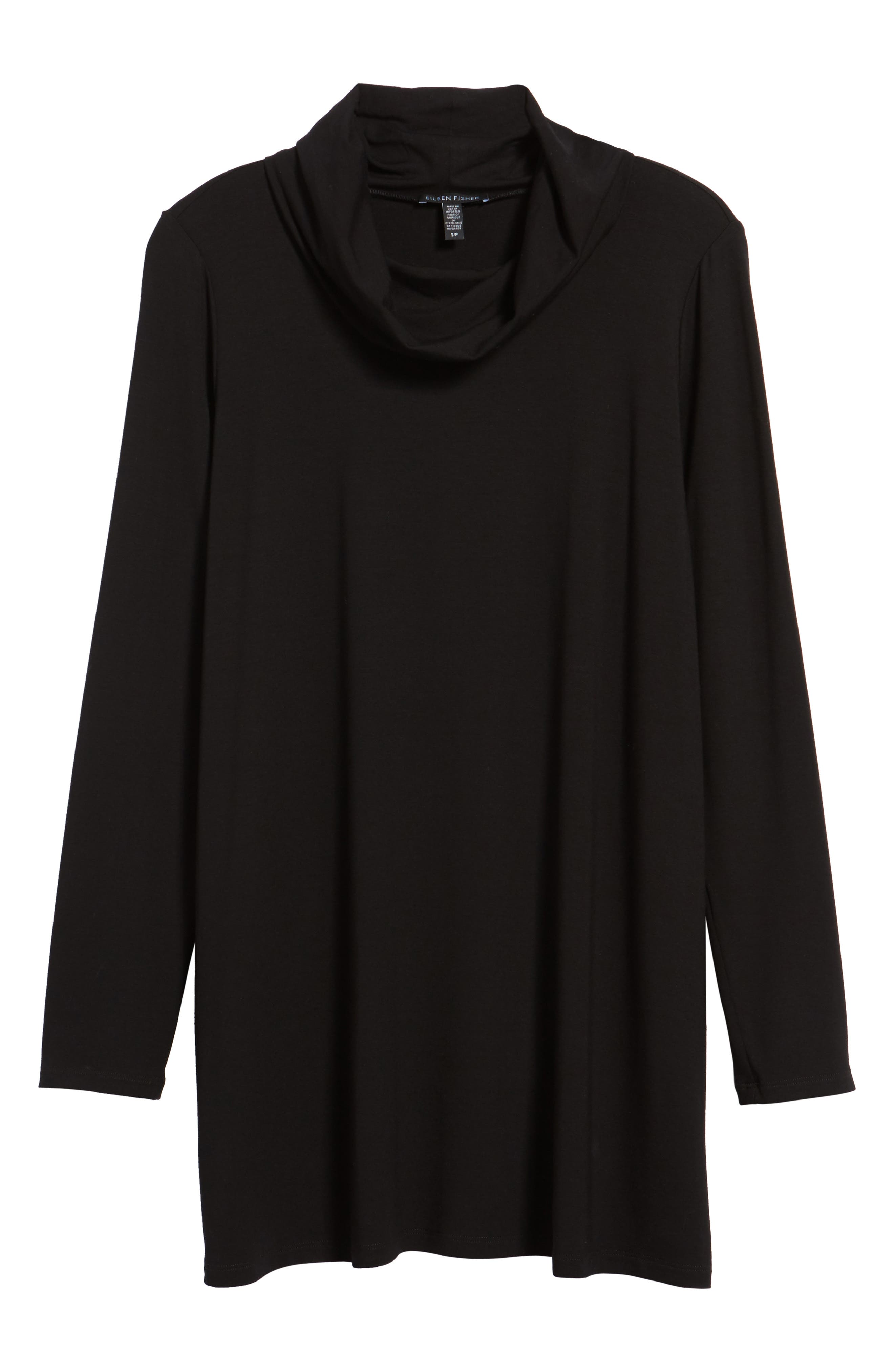 Drape Neck Jersey Top,                         Main,                         color, Black