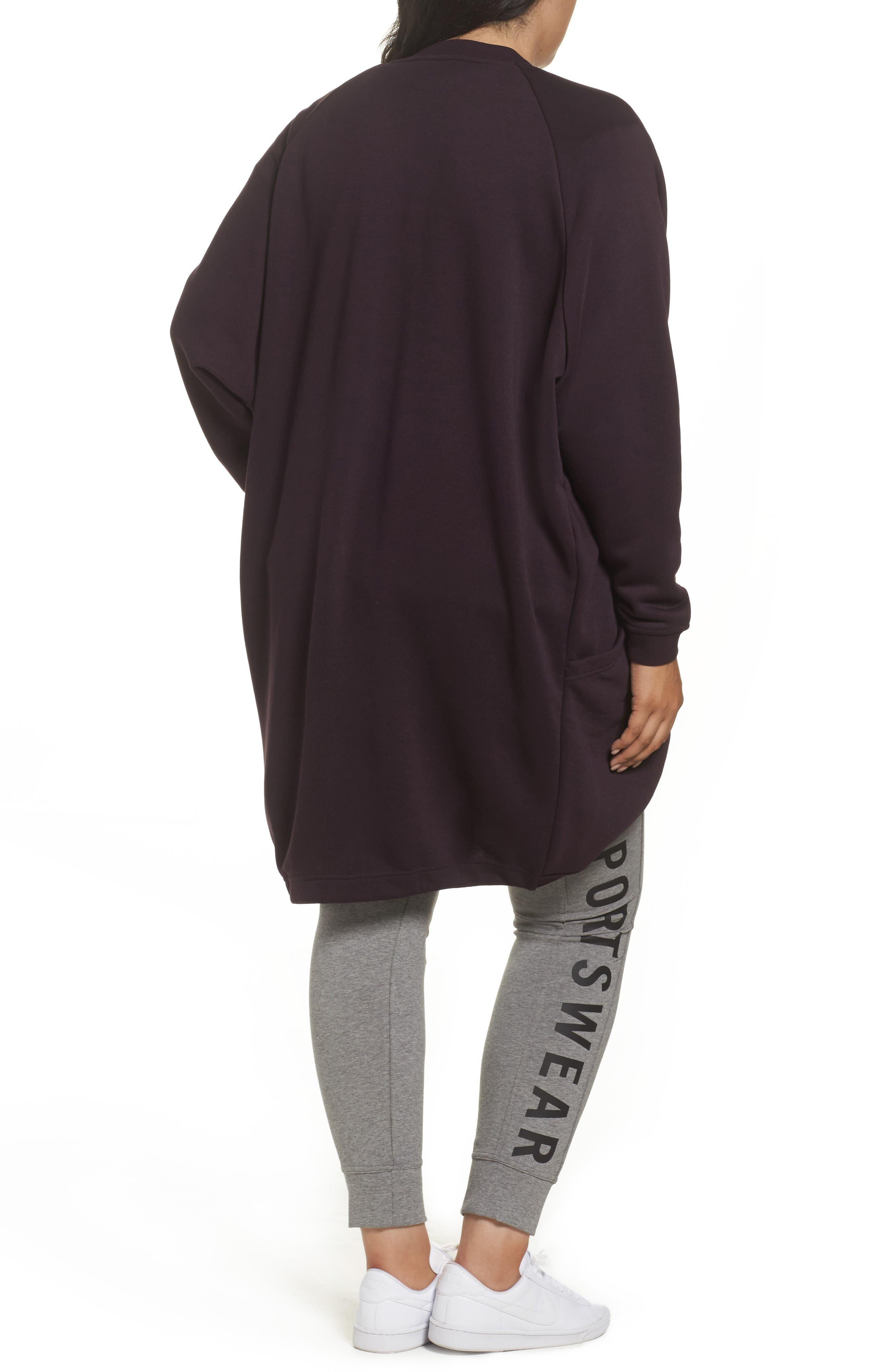 Sportswear Modern Cardigan,                             Alternate thumbnail 2, color,                             Port Wine/ Port Wine