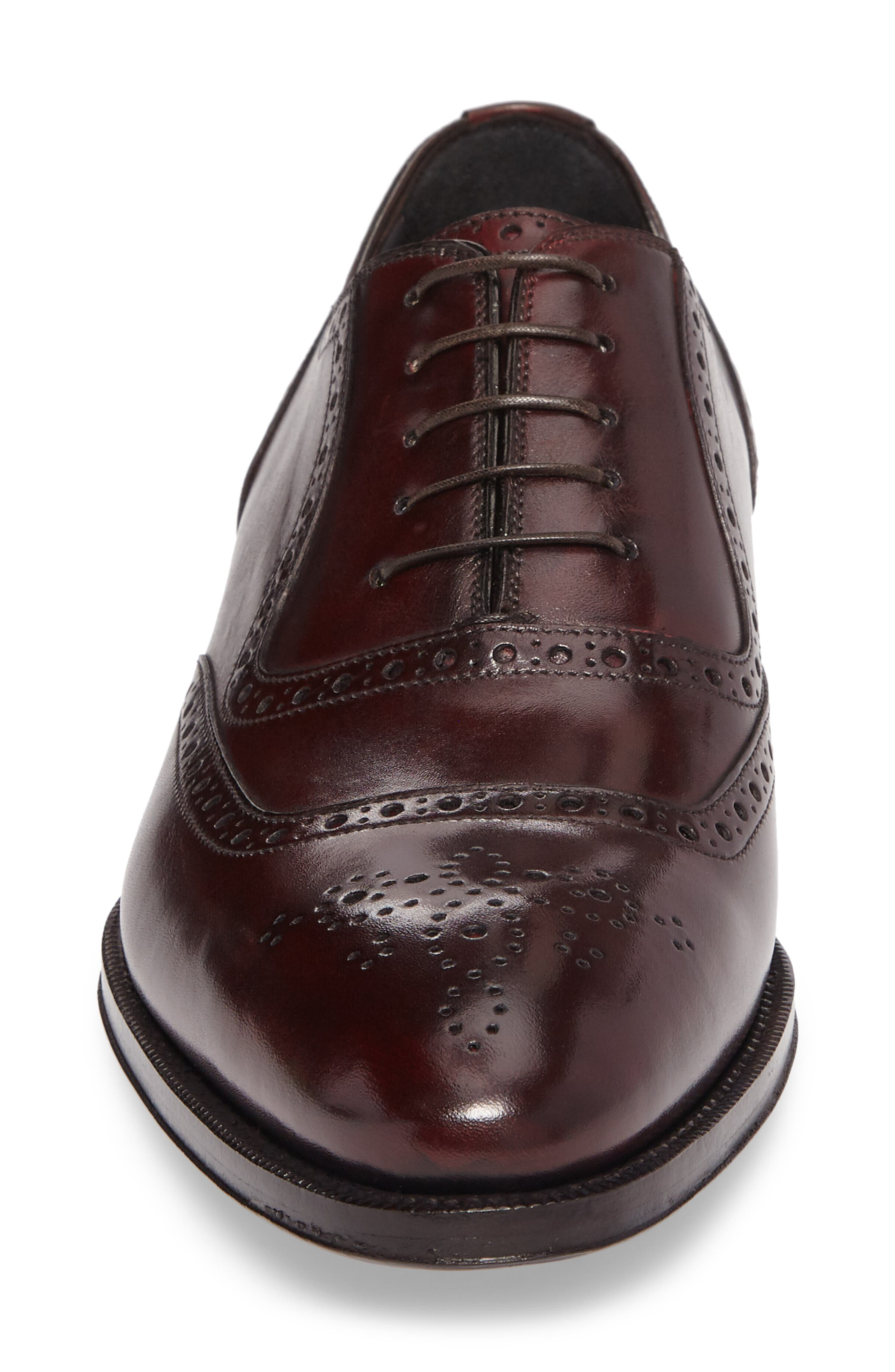 Medallion Toe Oxford,                             Alternate thumbnail 4, color,                             Anima Leather