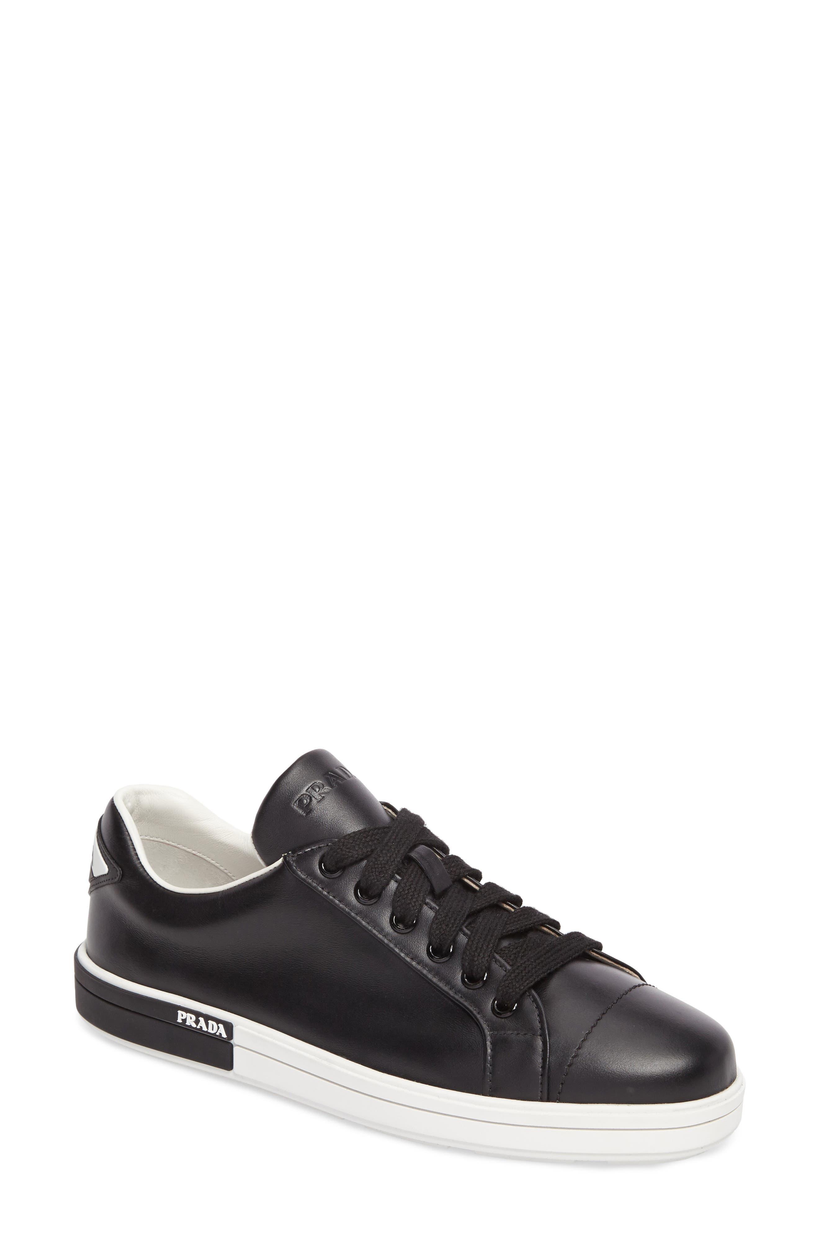 Logo Low Top Sneaker,                         Main,                         color, Black/ White