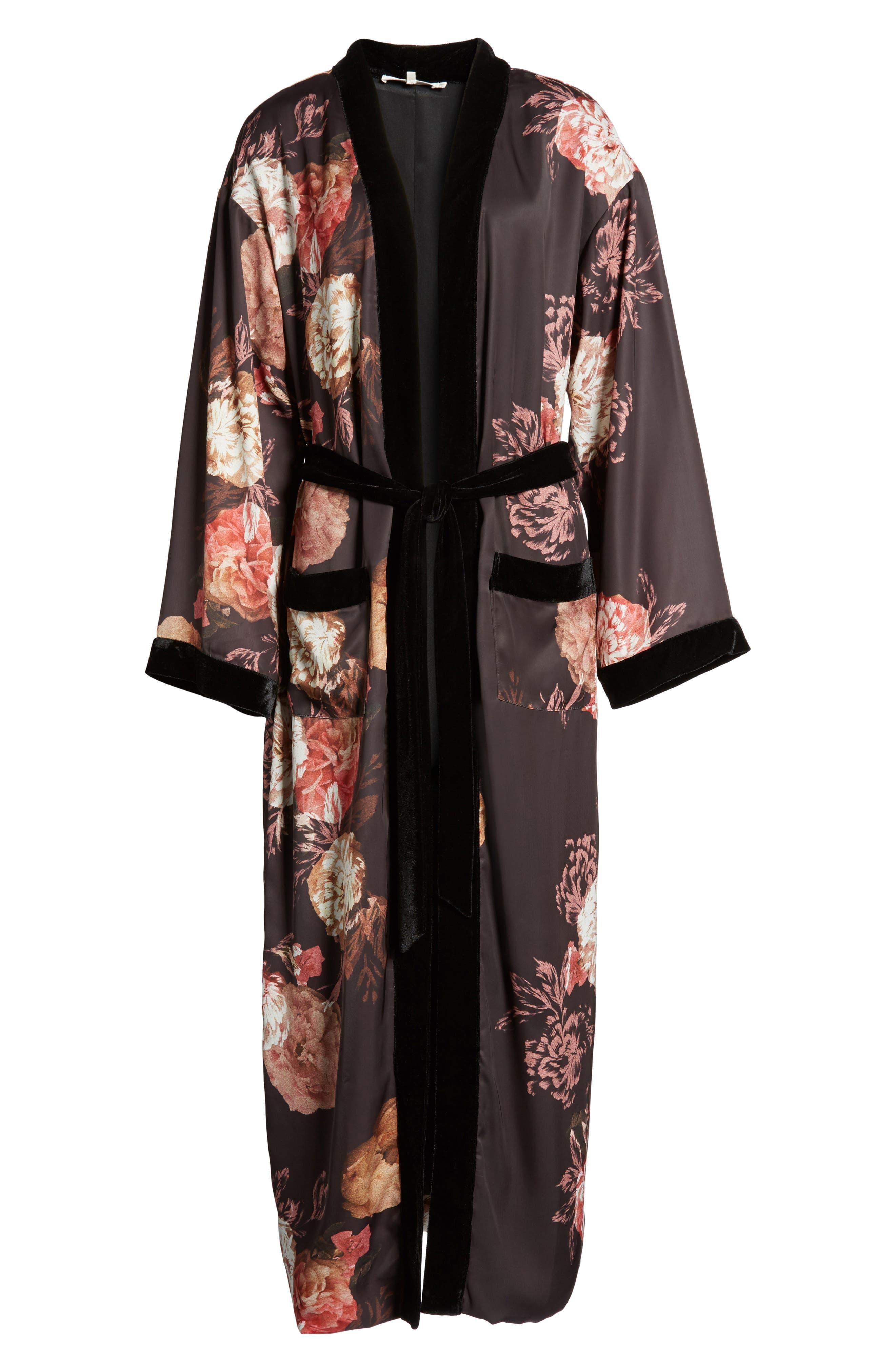 Floral Kimono,                             Alternate thumbnail 6, color,                             Victorian Floral