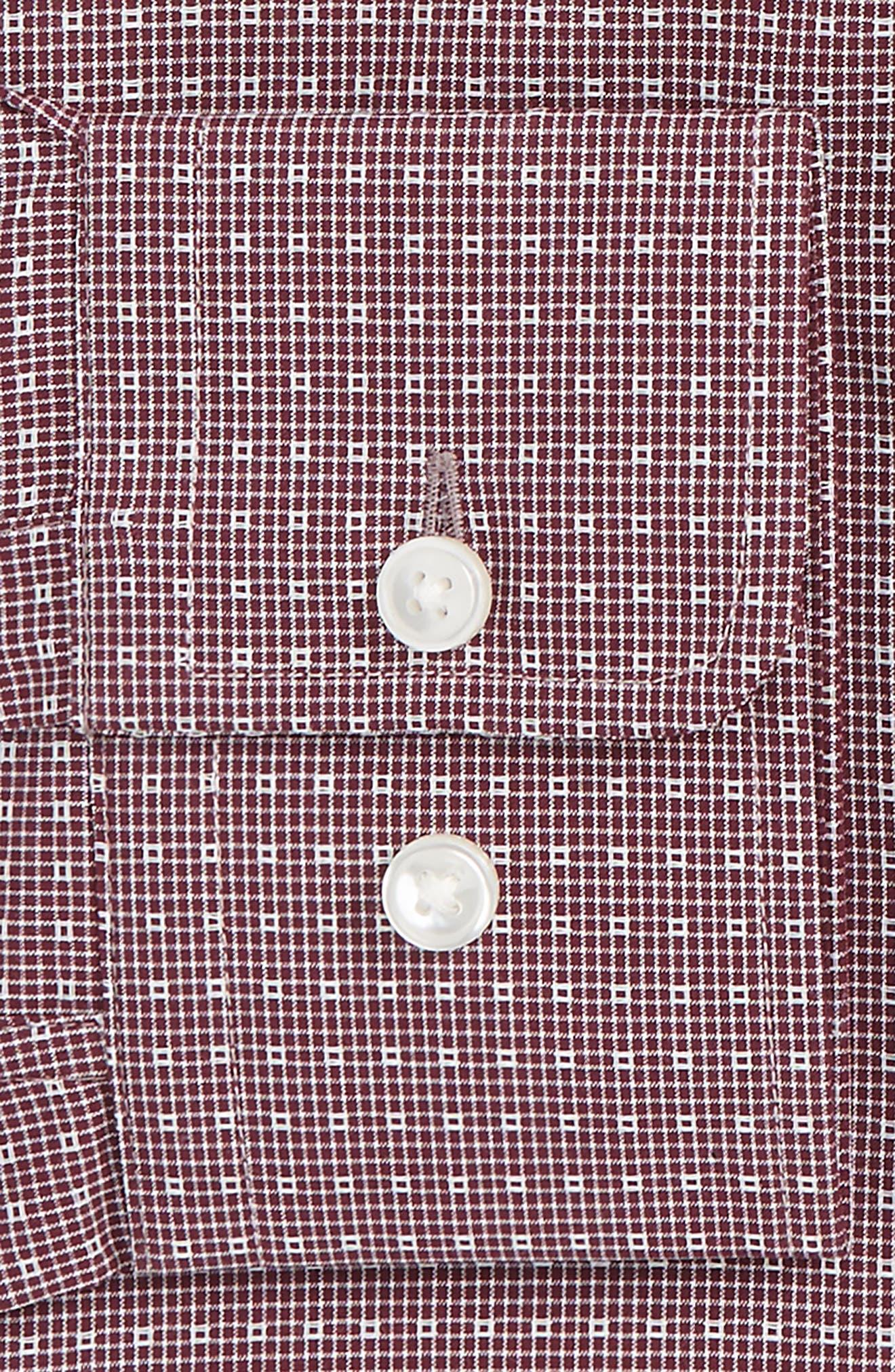 Marley Sharp Fit Check Dress Shirt,                             Alternate thumbnail 2, color,                             Dark Red