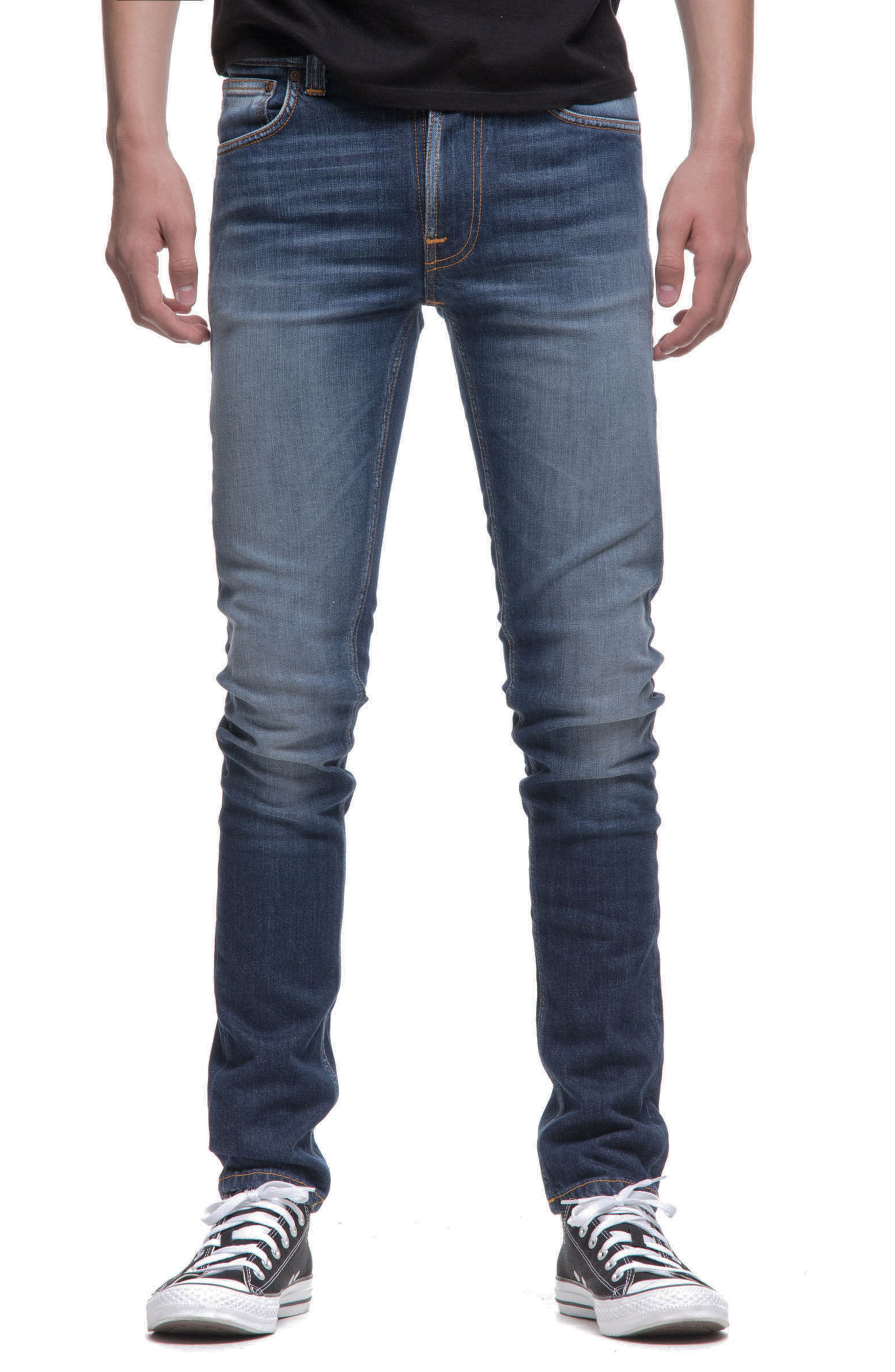 Alternate Image 1 Selected - Nudie Jeans Lean Dean Slouchy Slim Fit Jeans (Blue Ridge)