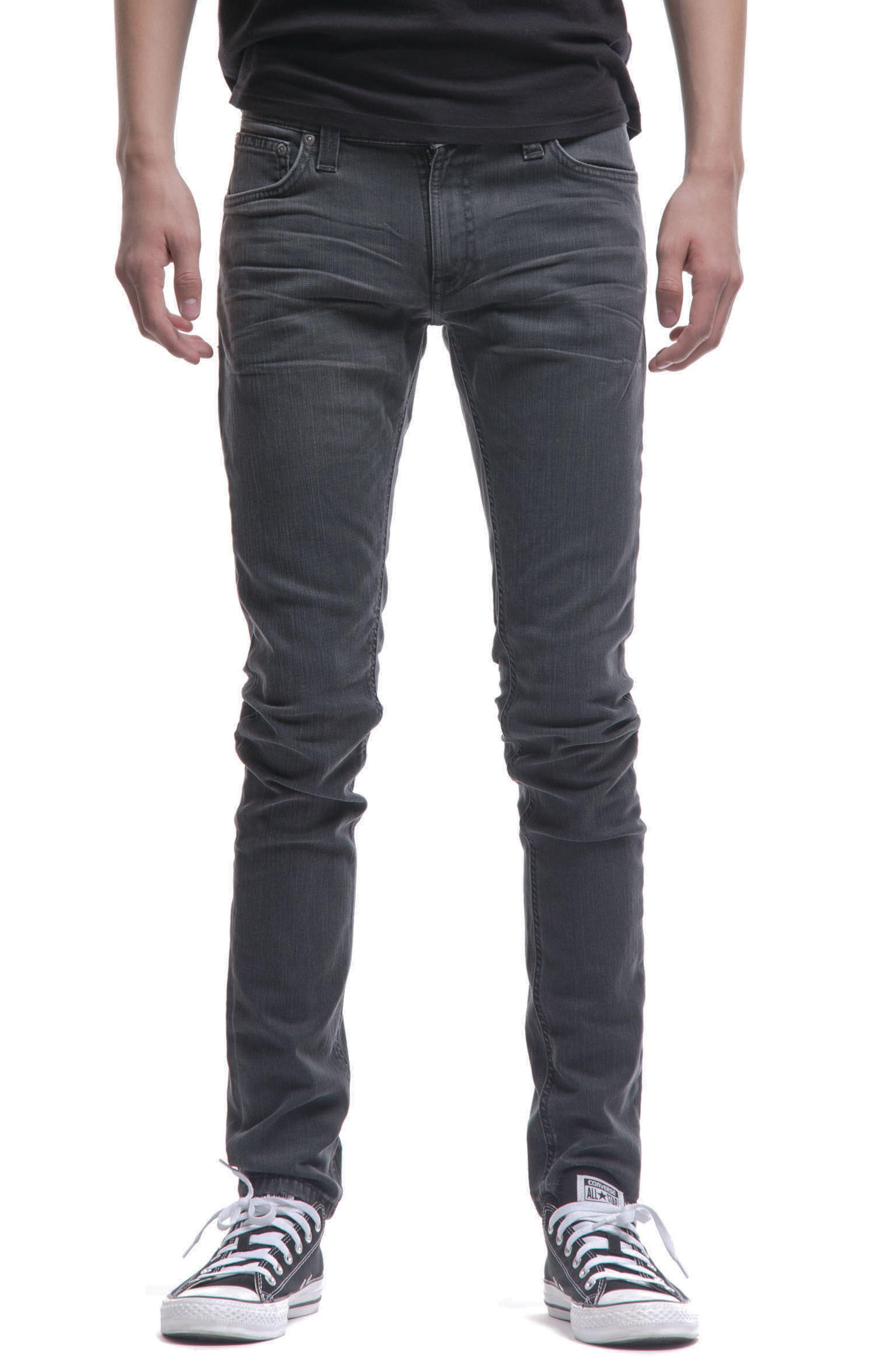 Skinny Lin Skinny Fit Jeans,                             Main thumbnail 1, color,                             Black Seas