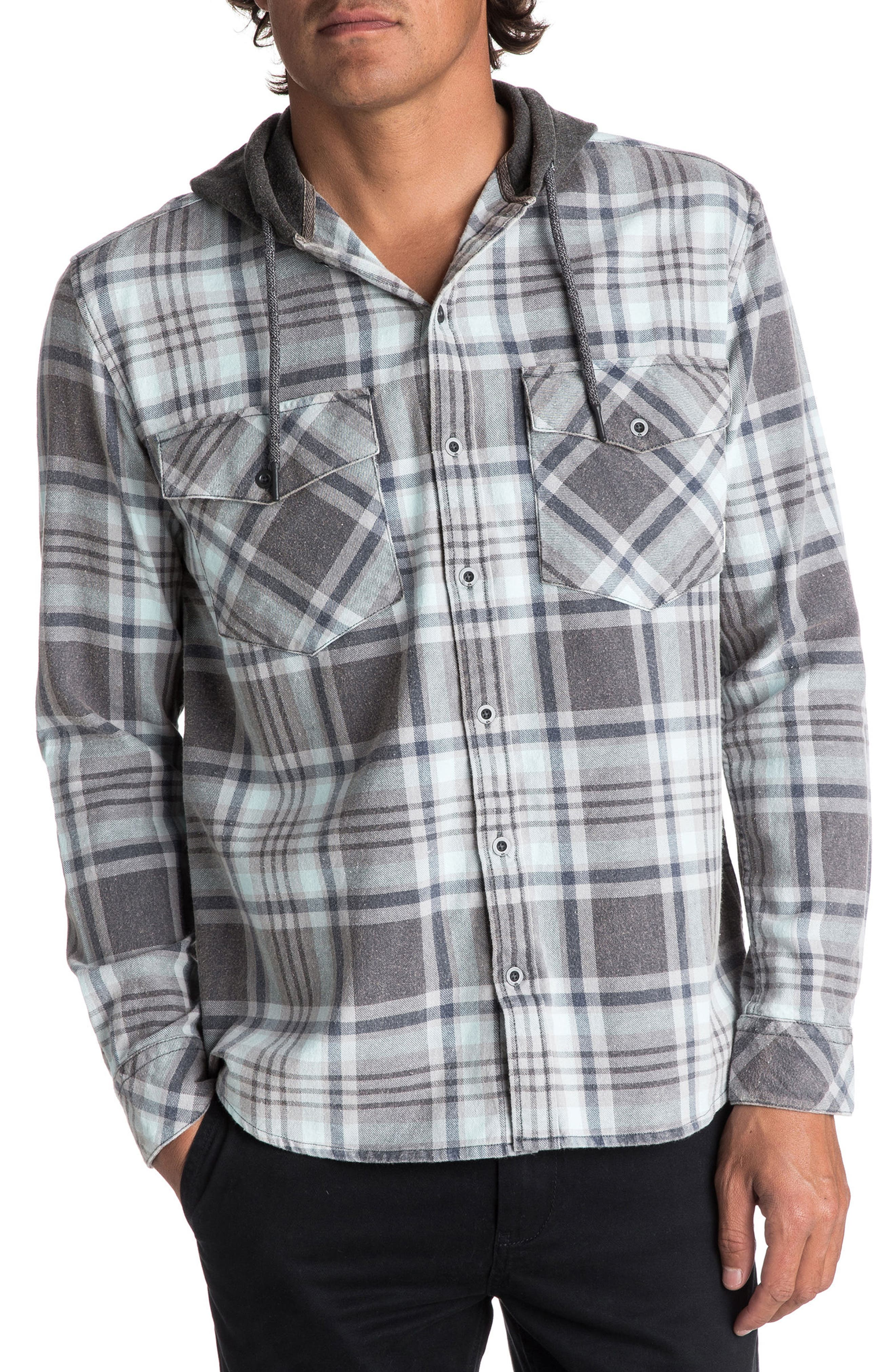 Alternate Image 1 Selected - Quiksilver Tang Hooded Woven Shirt
