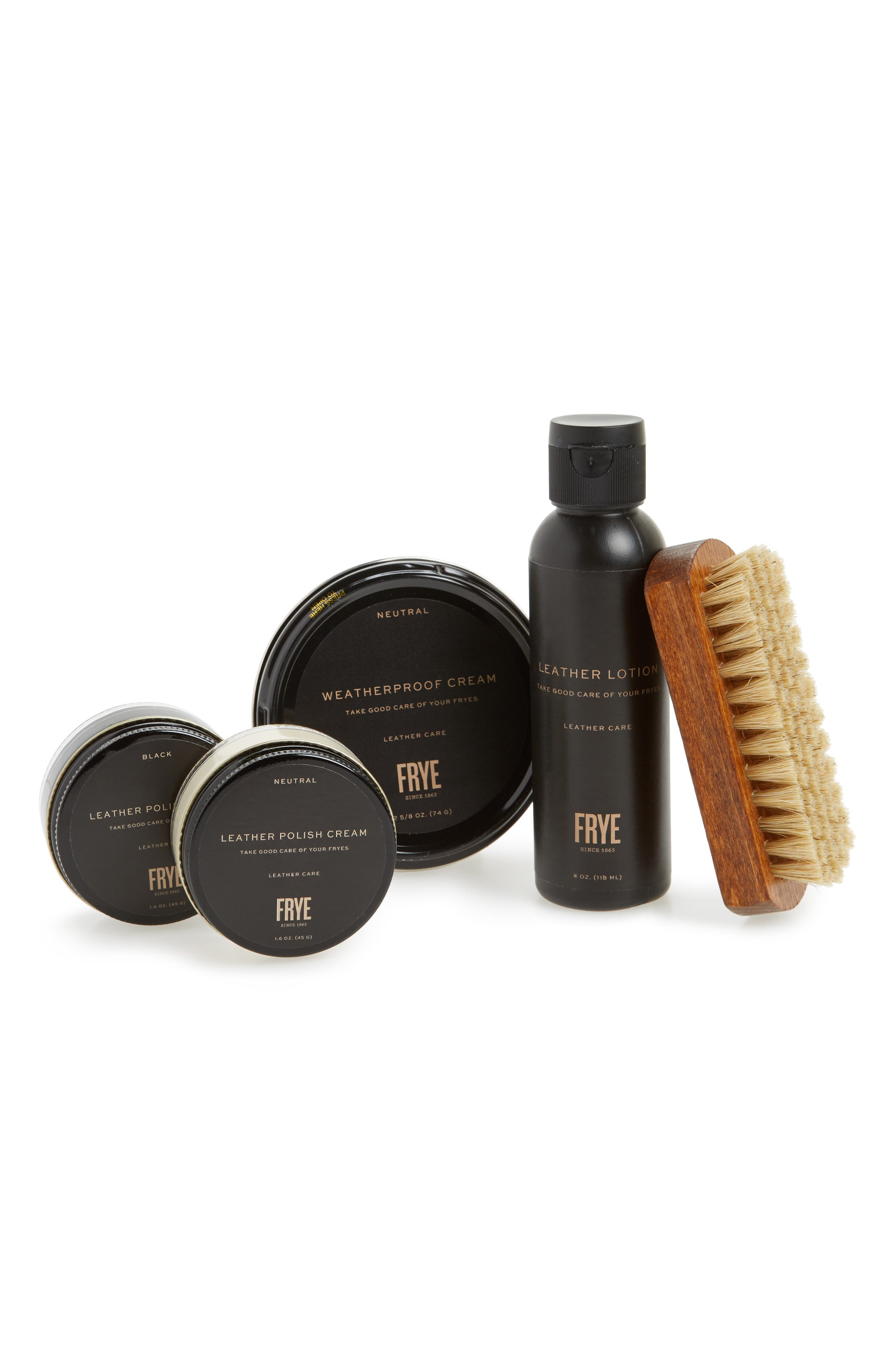 Deluxe Leather Care Kit,                             Main thumbnail 1, color,                             Neutral