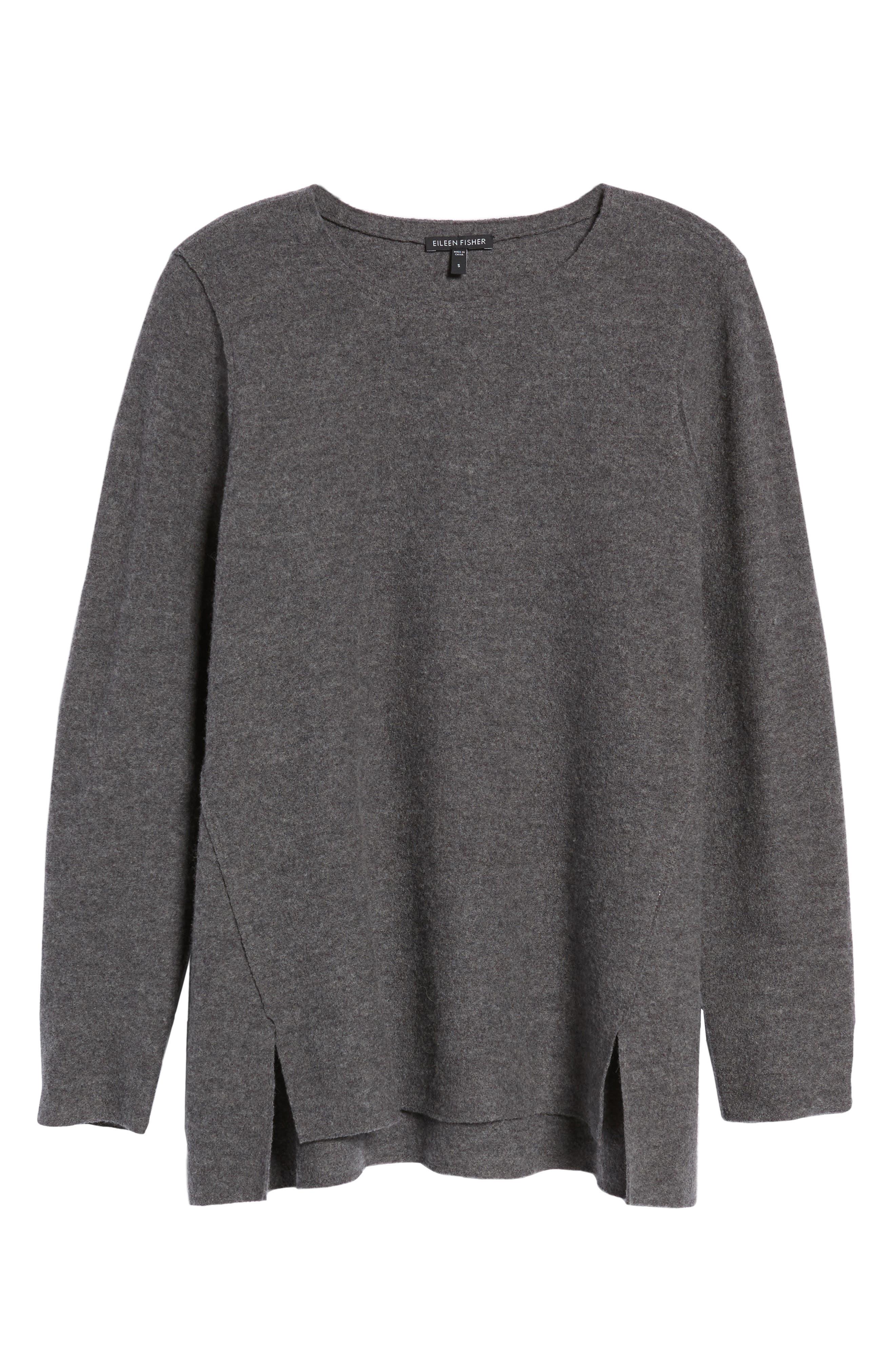 Alternate Image 6  - Eileen Fisher Boiled Merino Wool Top (Regular & Petite)