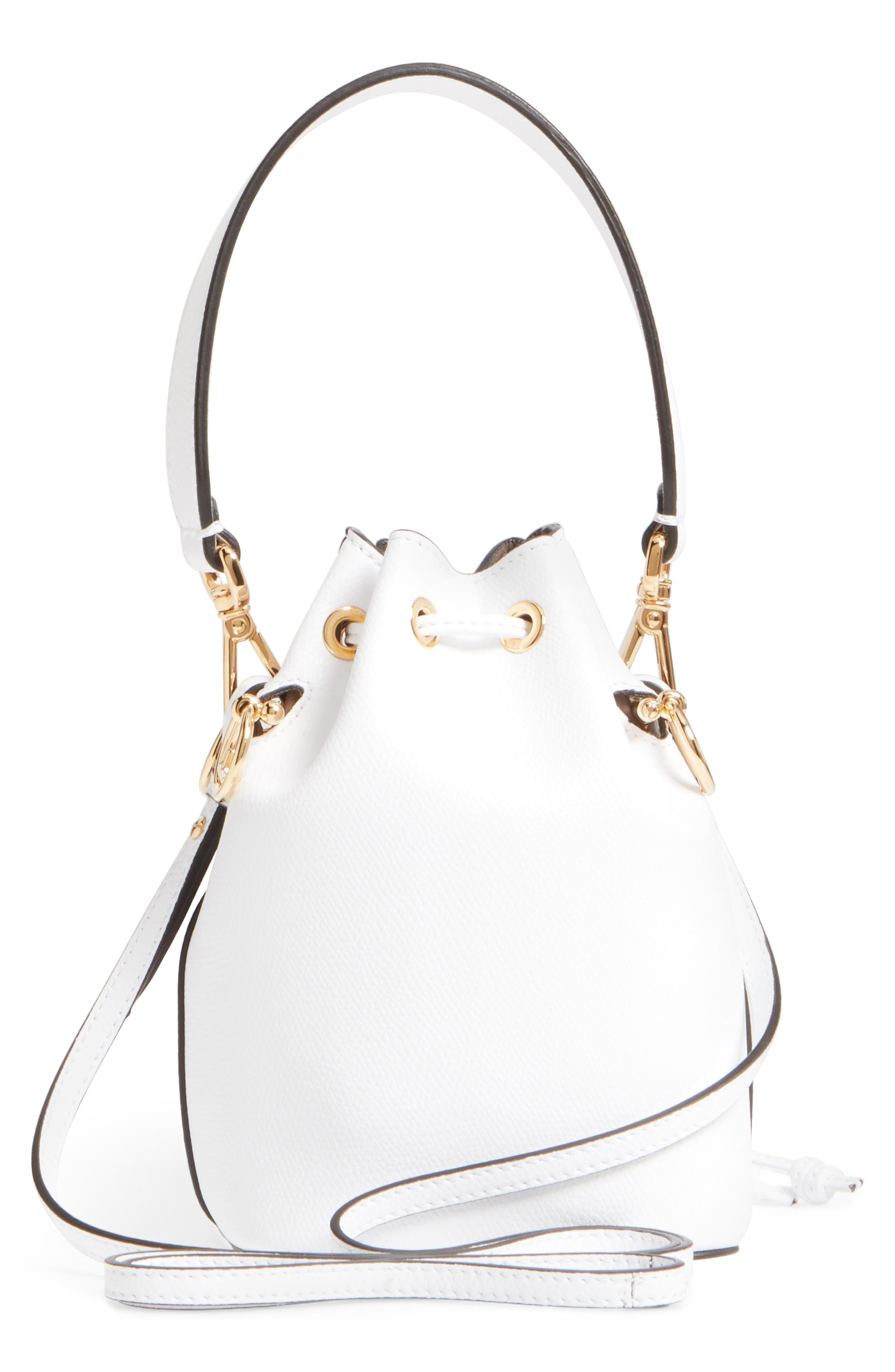 Alternate Image 3  - Fendi Mini Leather Bucket Bag