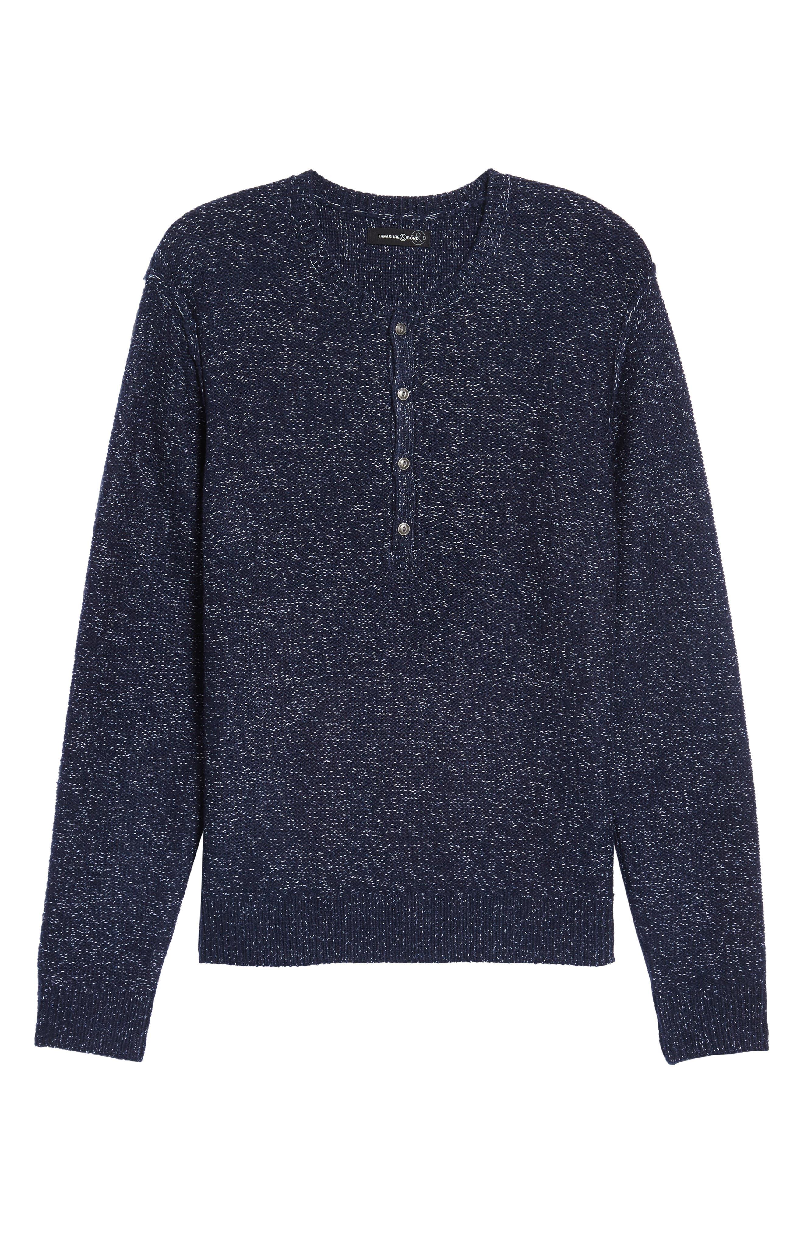 Alternate Image 6  - Treasure & Bond Marled Henley Sweater