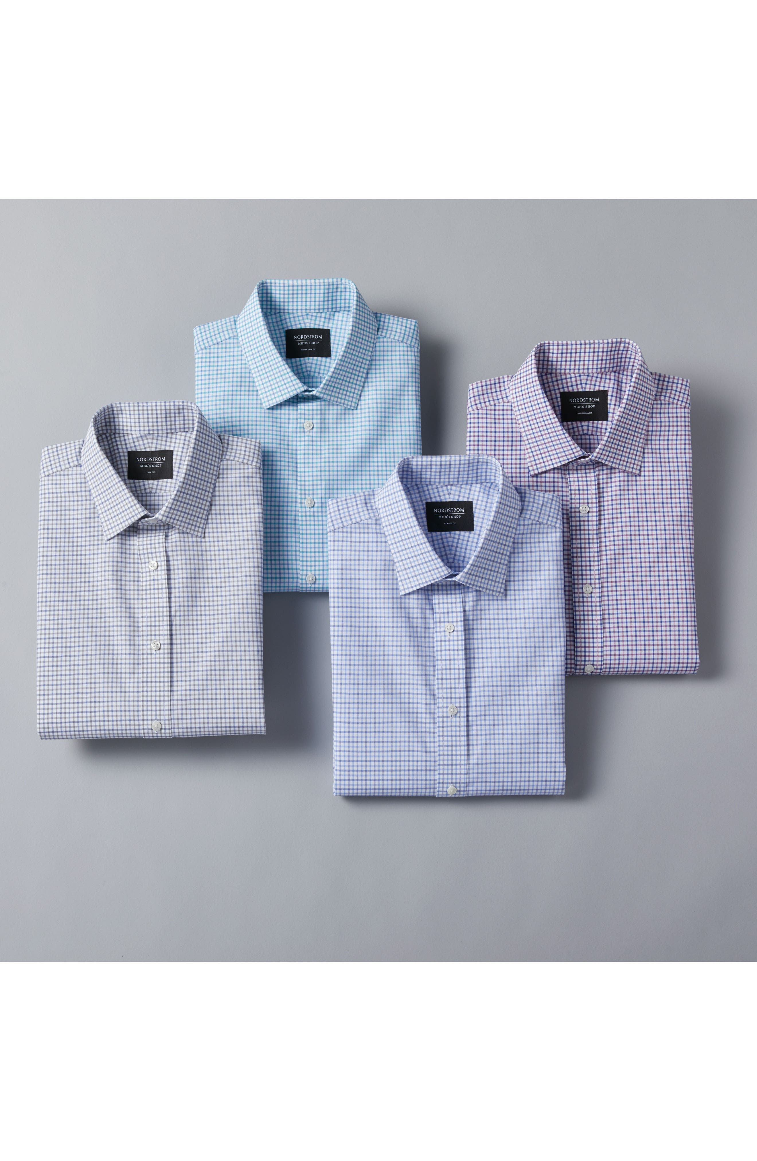 Alternate Image 7  - Nordstrom Men's Shop Trim Fit Check Dress Shirt