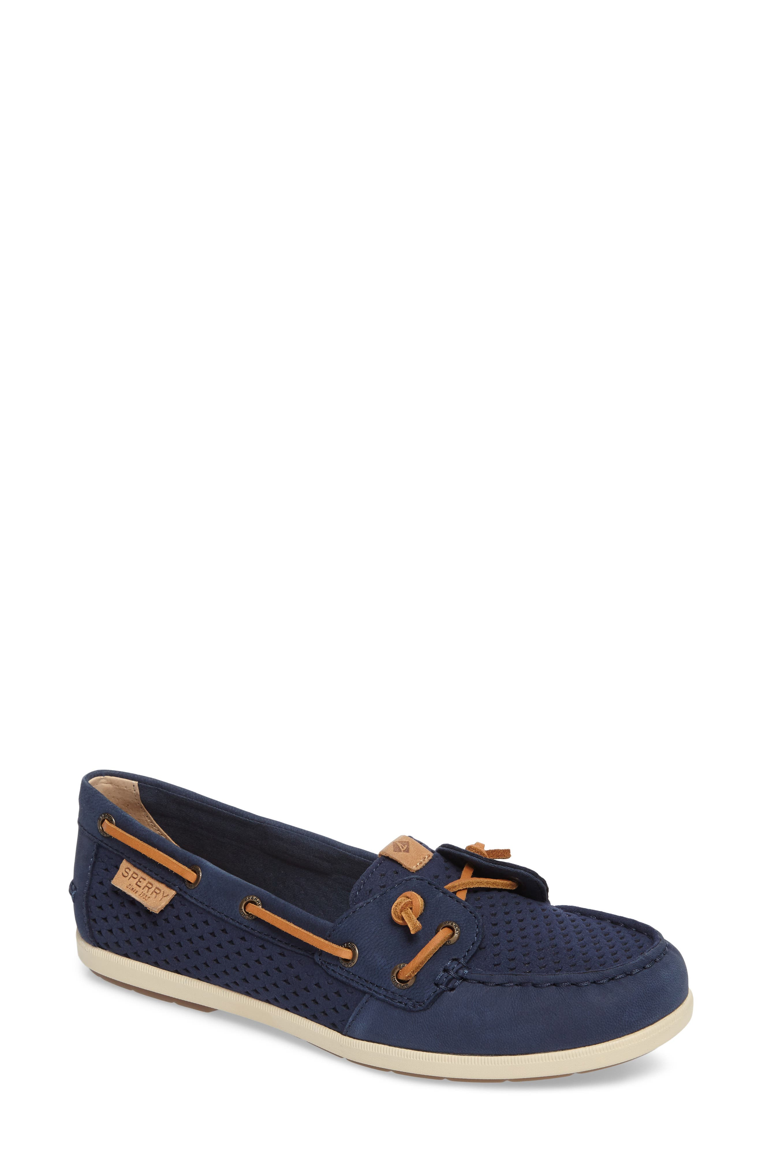 Sperry Coil Ivy Perforated Boat Shoe (Women)