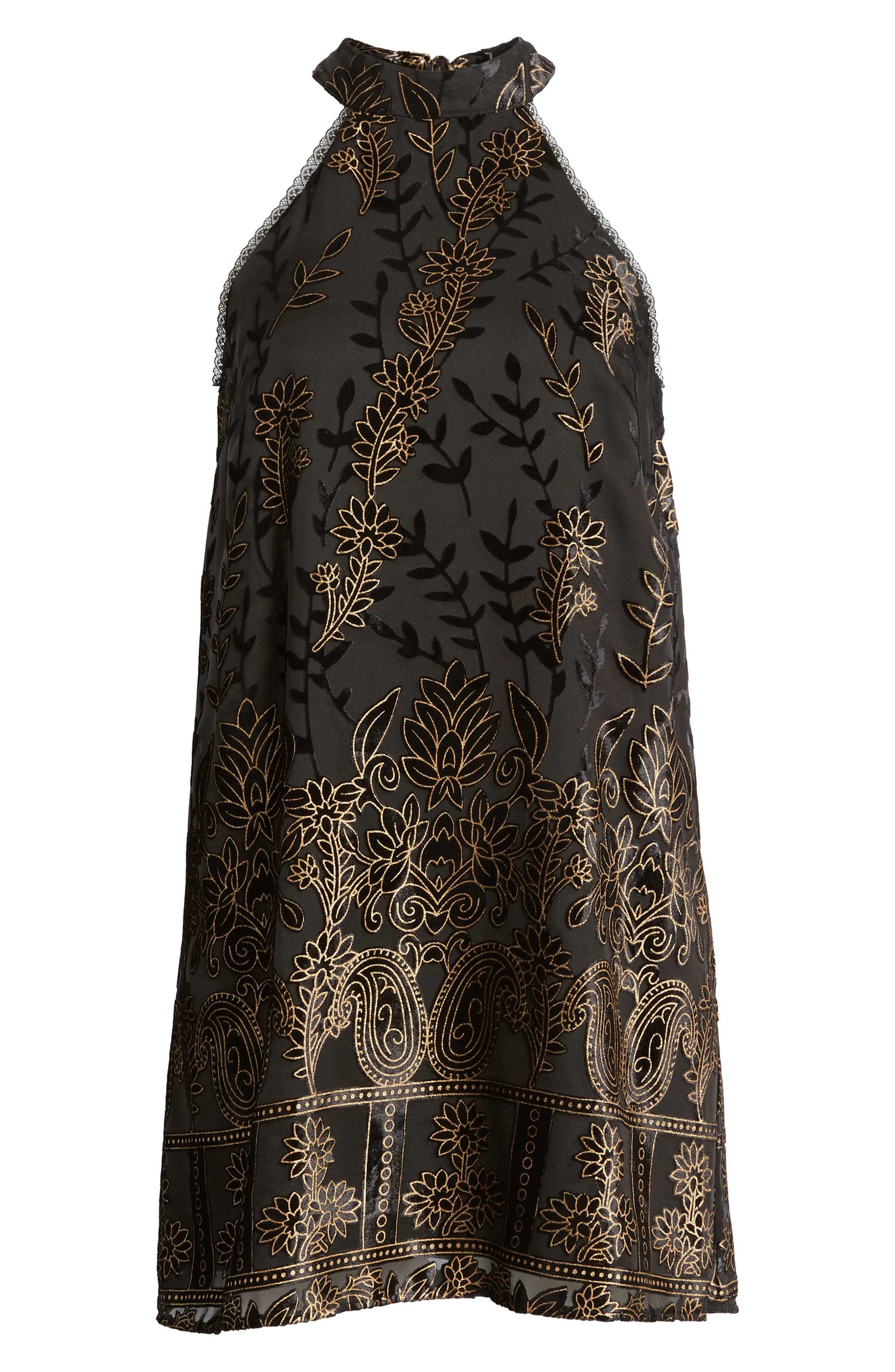 Merci Halter Dress,                             Alternate thumbnail 6, color,                             Black