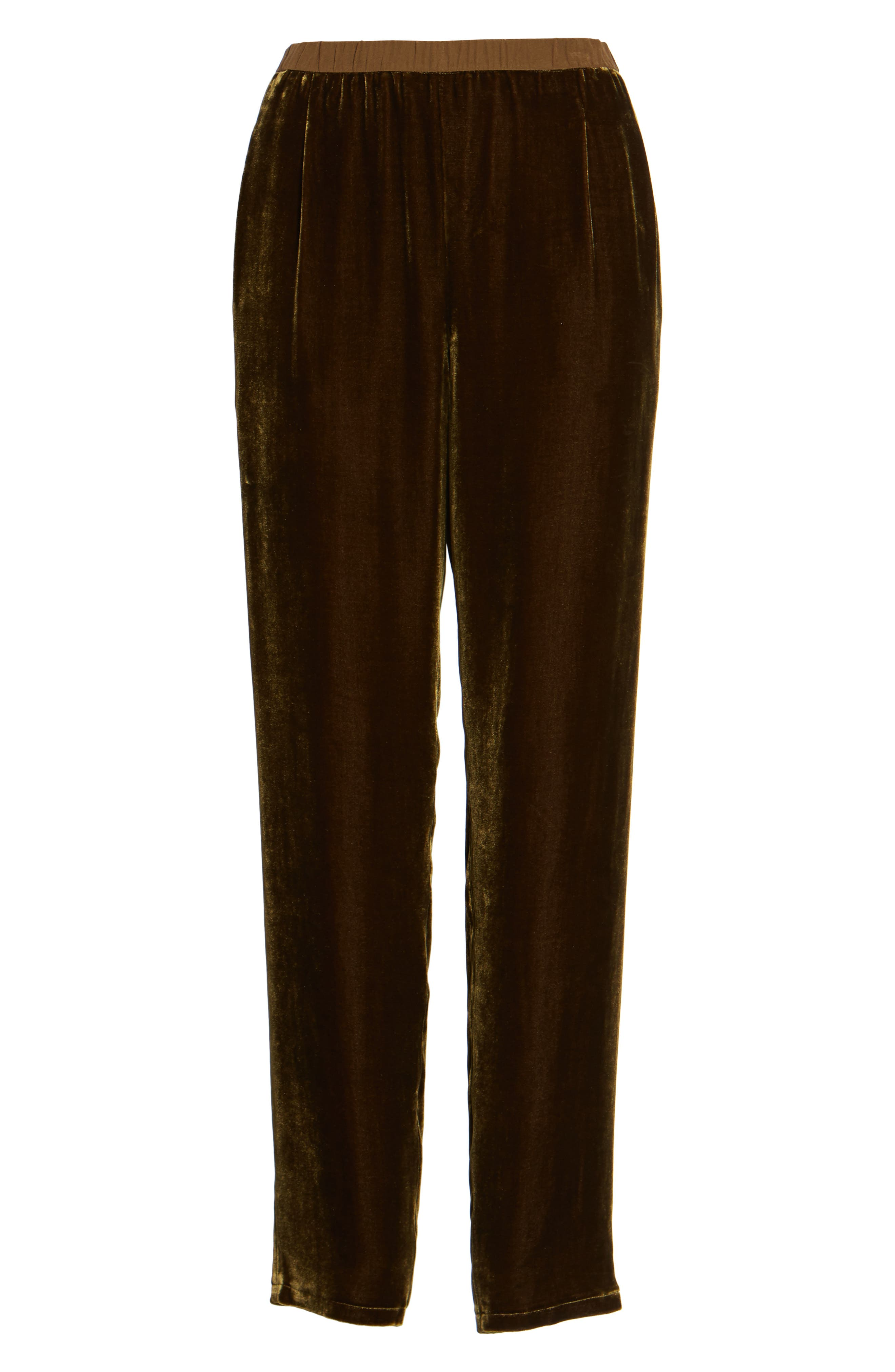 Alternate Image 6  - Eileen Fisher Velvet Ankle Pants (Regular & Petite)