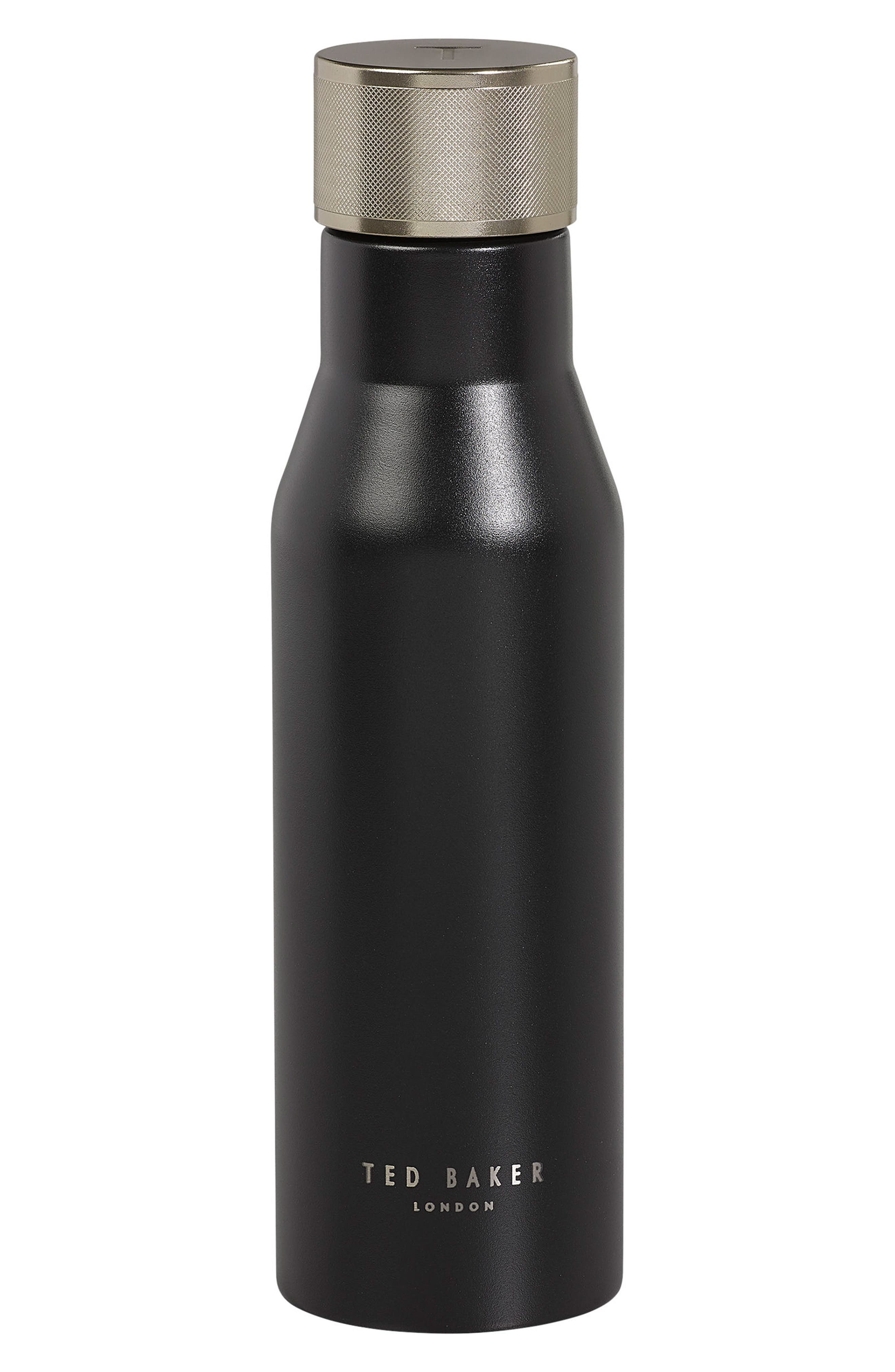 Stainless Steel Water Bottle,                             Main thumbnail 1, color,                             Black Onyx