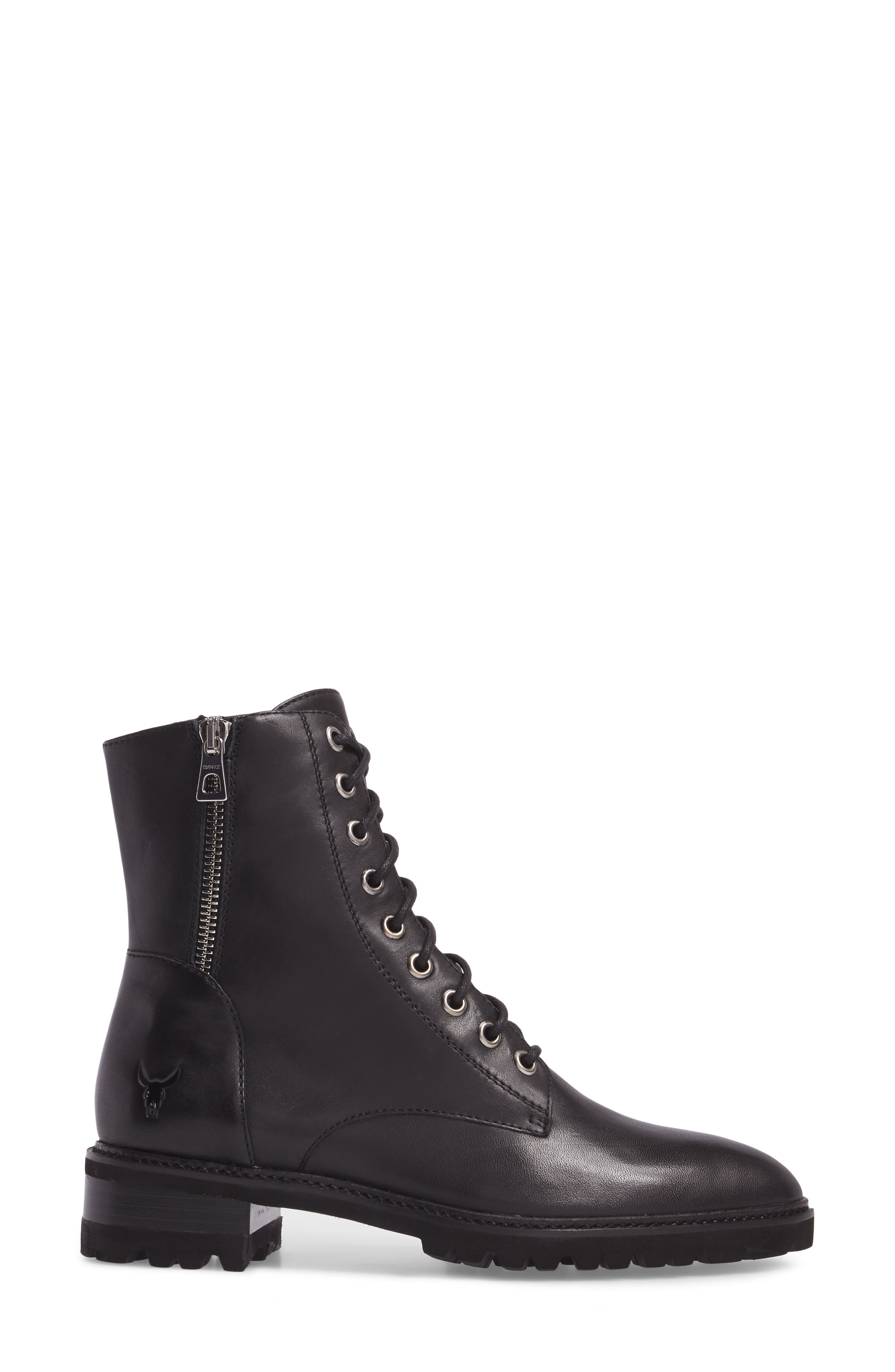 Tempt Boot,                             Alternate thumbnail 3, color,                             Black Leather