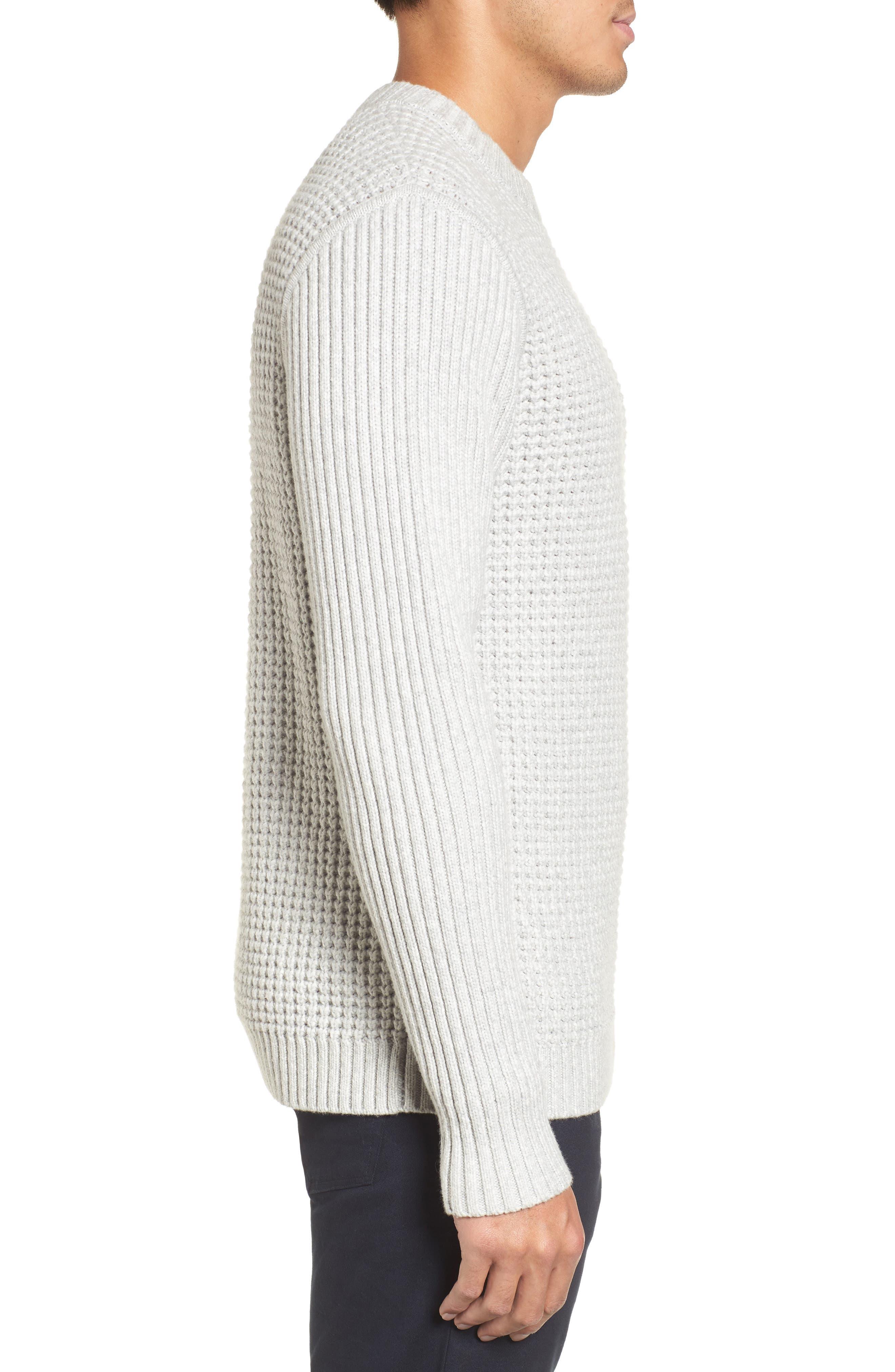 Alternate Image 3  - Calibrate Heavyweight Mixed Knit Crewneck Sweater
