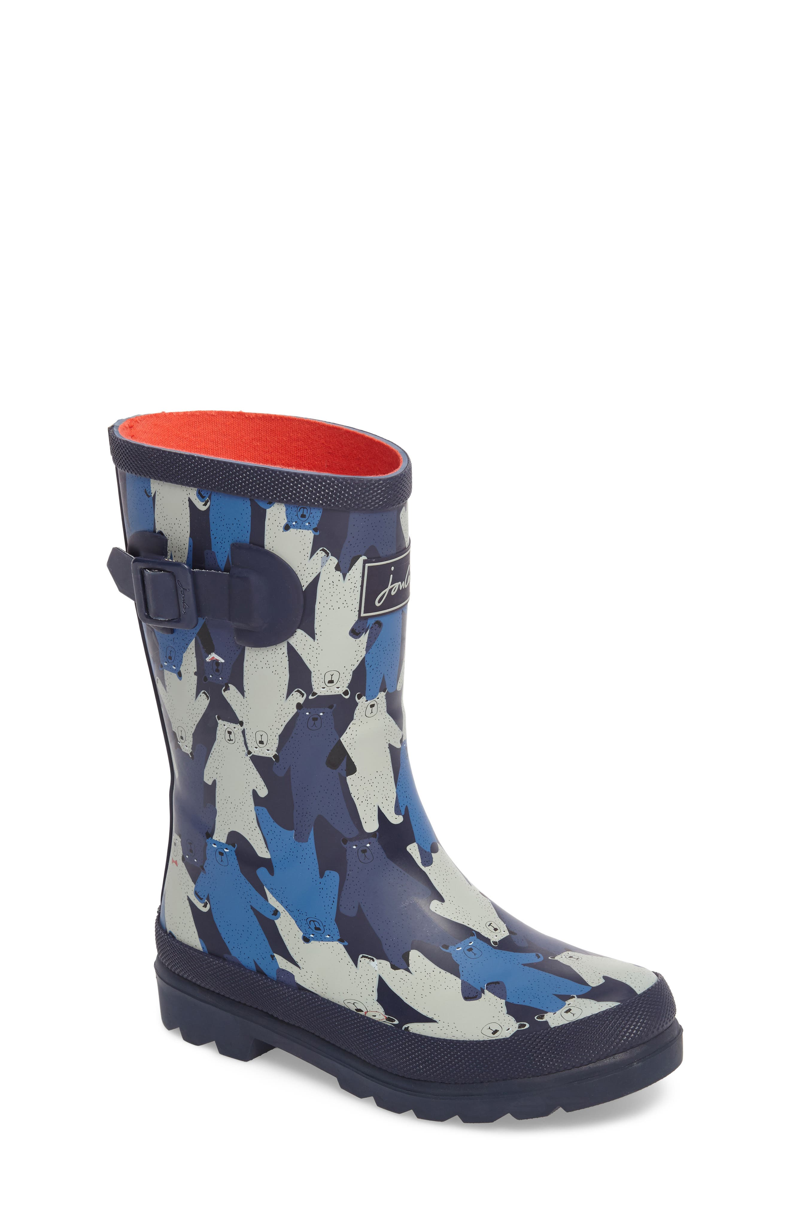 Alternate Image 1 Selected - Joules Printed Waterproof Rain Boot (Toddler, Little Kid & Big Kid)