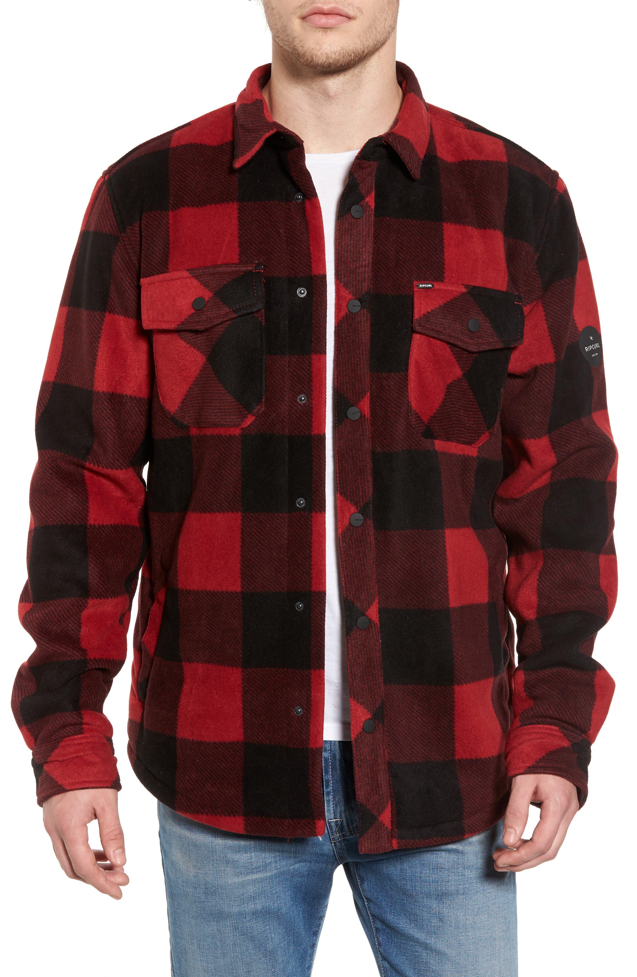 Rip Curl El Cap Water Resistant Flannel Shirt Jacket