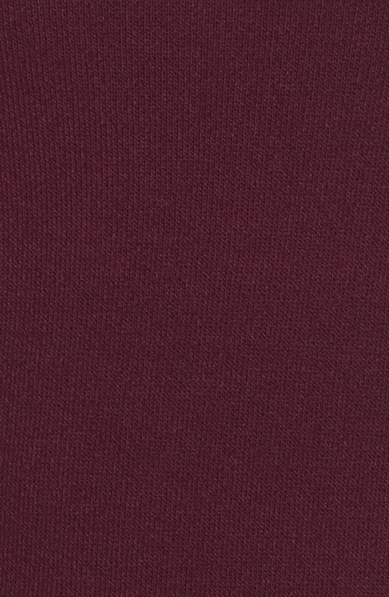 Cold Shoulder Knit Body-Con Dress,                             Alternate thumbnail 5, color,                             Aubergine