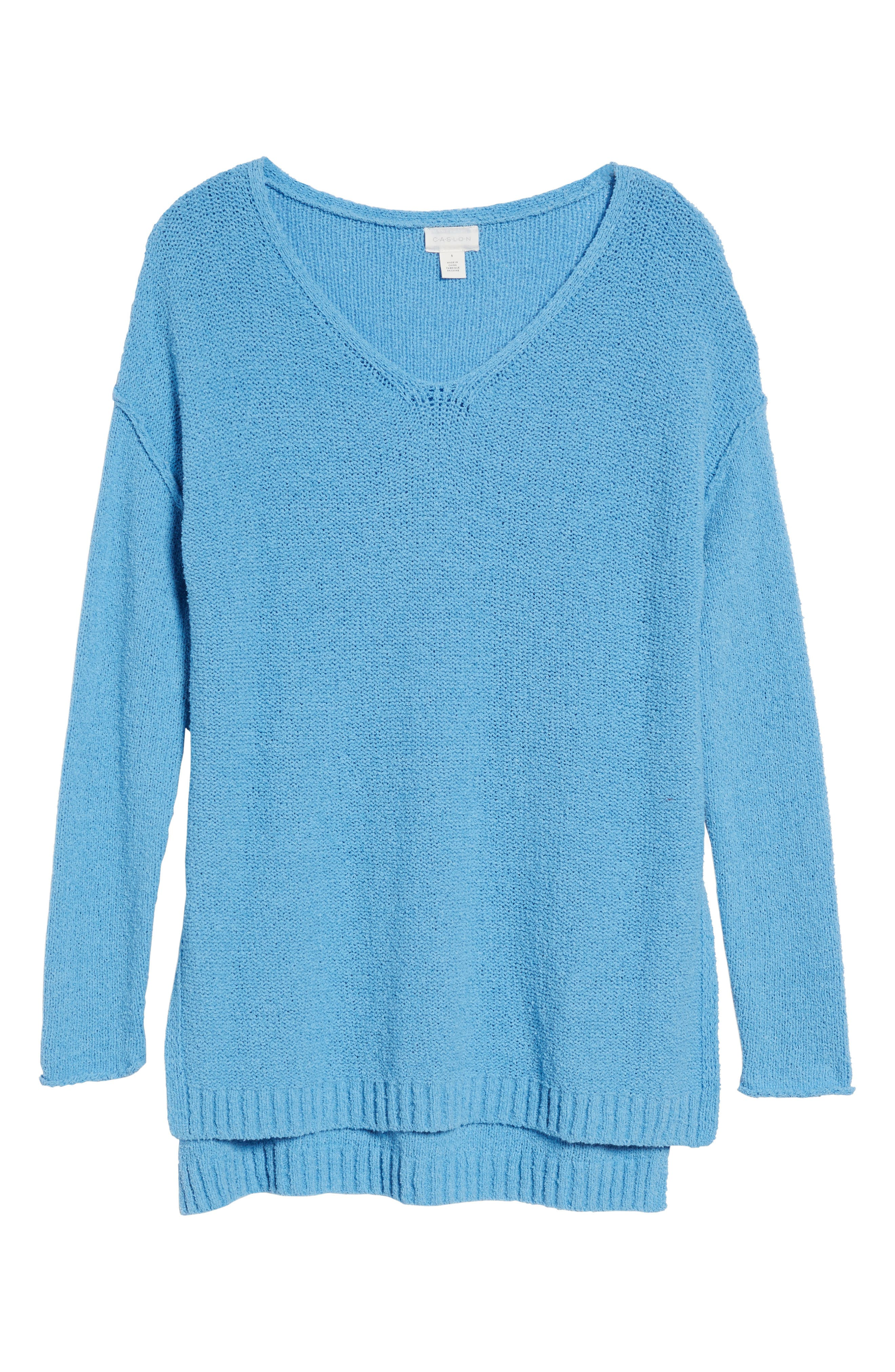 Tunic Sweater,                             Alternate thumbnail 6, color,                             Blue Lichen