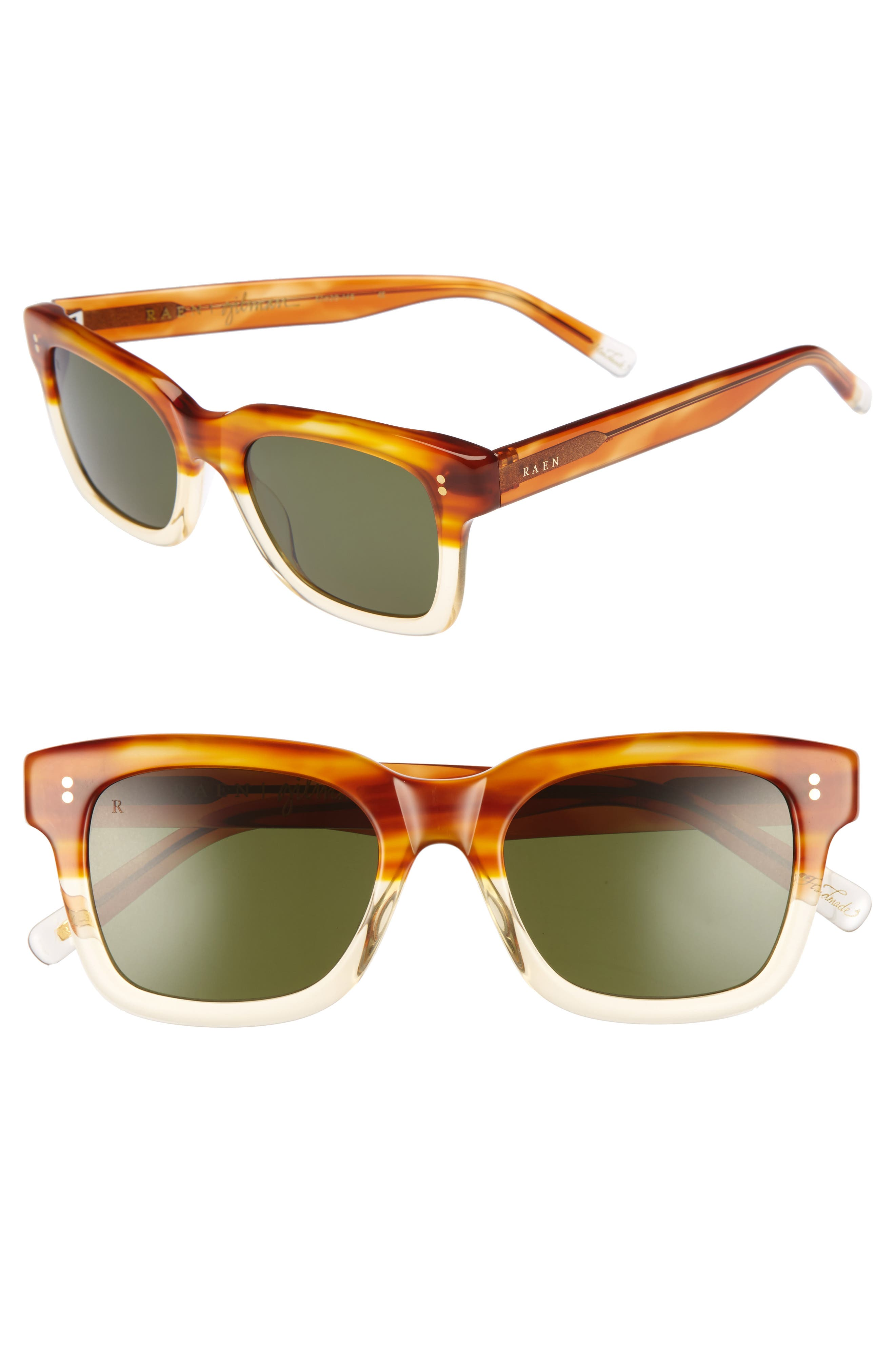 Gilman 52mm Polarized Sunglasses,                         Main,                         color, Honey Havana/ Green